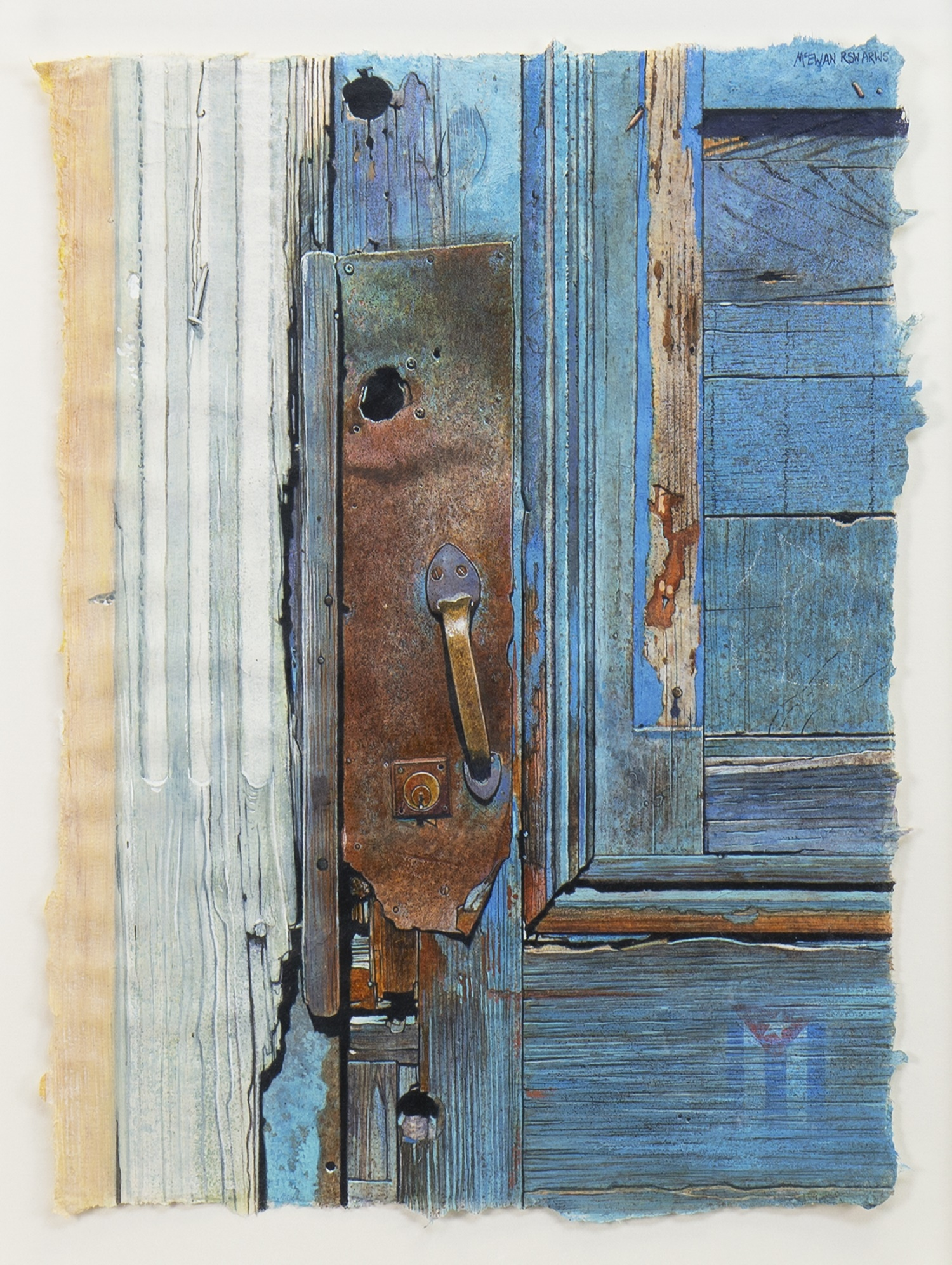 Lot 50 - IN WITH THE WOODWORK, A WATERCOLOUR BY ANGUS MCEWAN