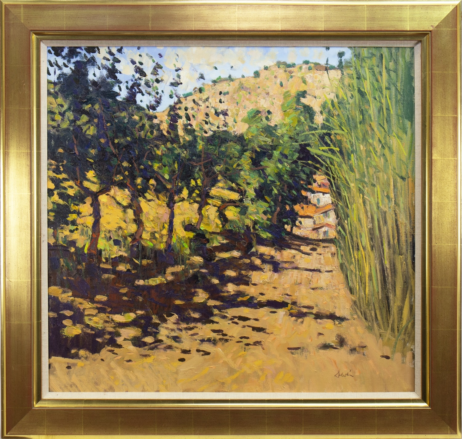 Lot 16 - THE ROAD TO CEPS, AN OIL BY GEORGE DEVLIN