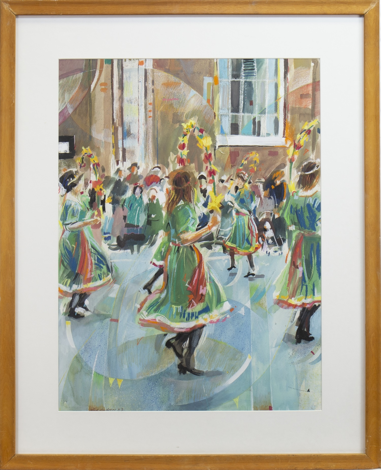 Lot 14 - STREET DANCERS, A MIXED MEDIA BY NICK ANDREWS