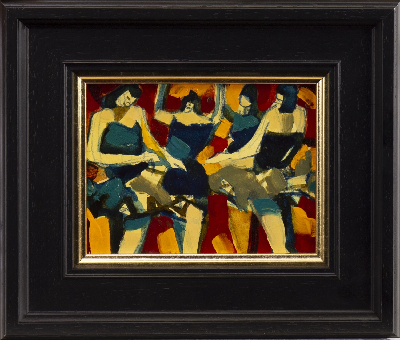 Lot 17 - GOLDEN DANCERS, A MIXED MEDIA BY JAMIE O'DEA