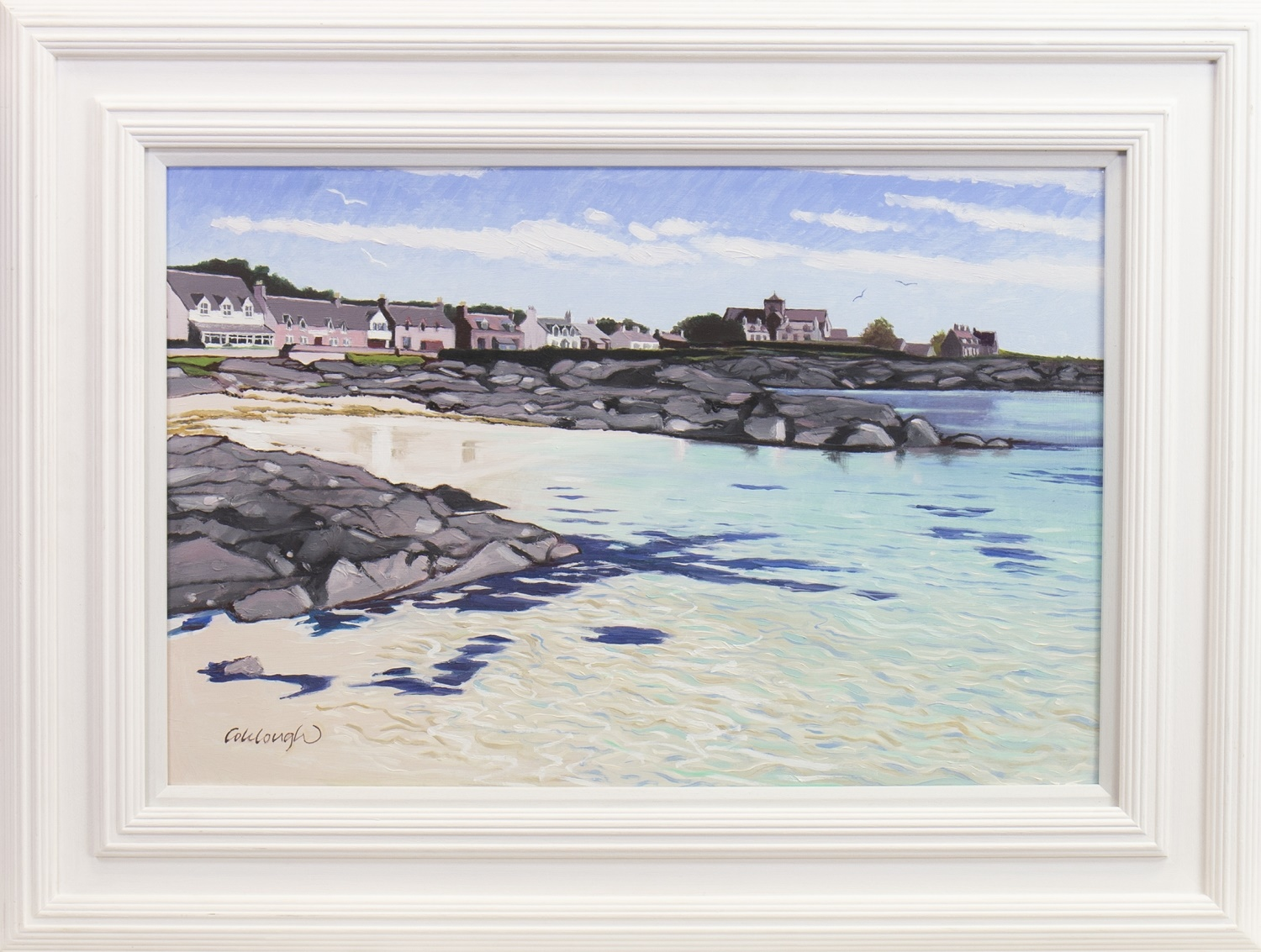 Lot 35 - IONA AND THE ABBEY, AN OIL BY FRANK COLCLOUGH