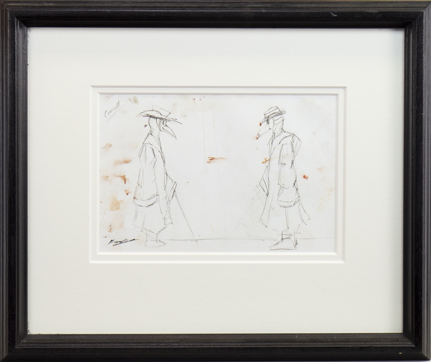 Lot 48 - THE CONSULTATION, A PENCIL SKETCH BY FRANK TO