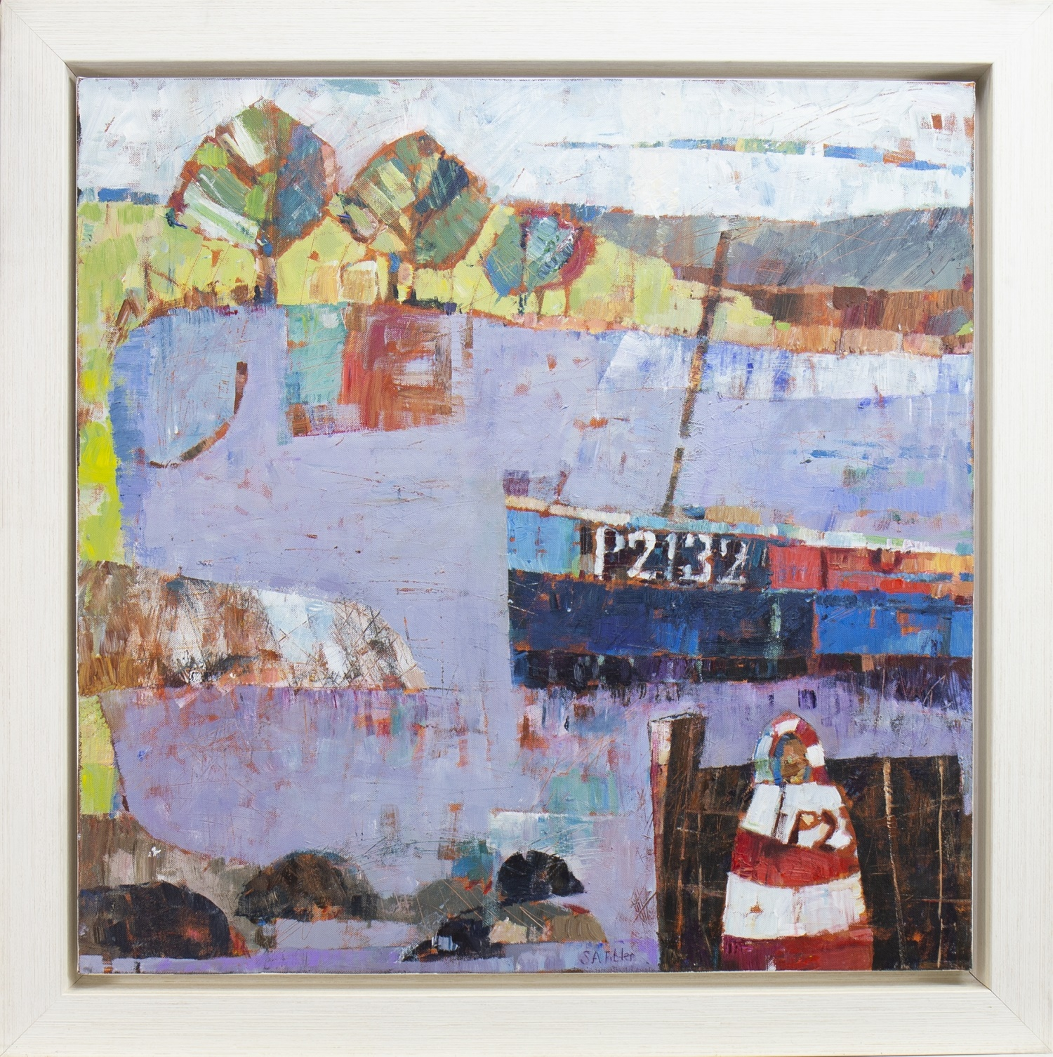 Lot 15 - EVENING IN CORNWALL, AN OIL BY SALLY ANNE FITTER