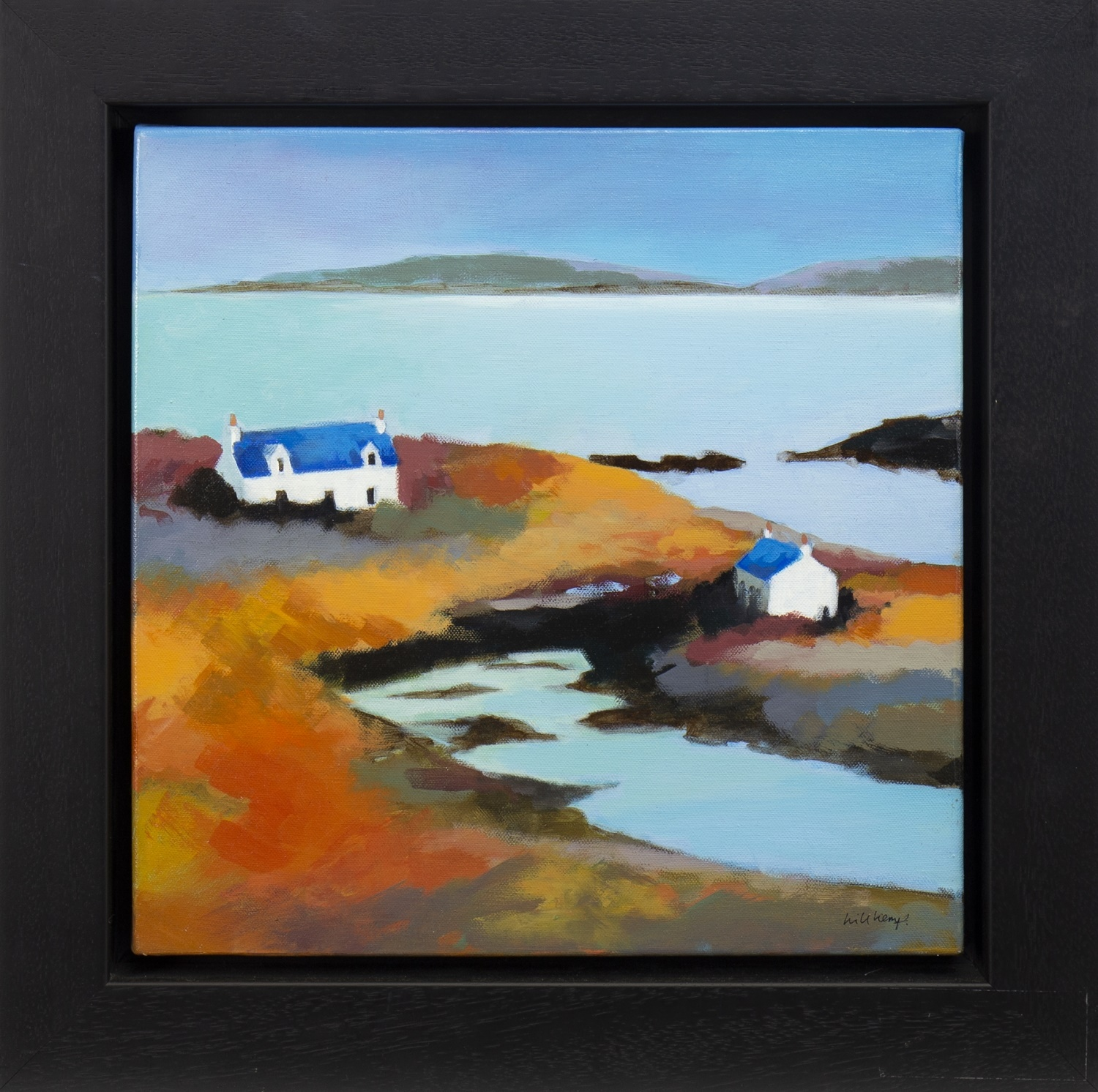 Lot 26 - WEST COAST COTTAGES, AN OIL BY WILL KEMP