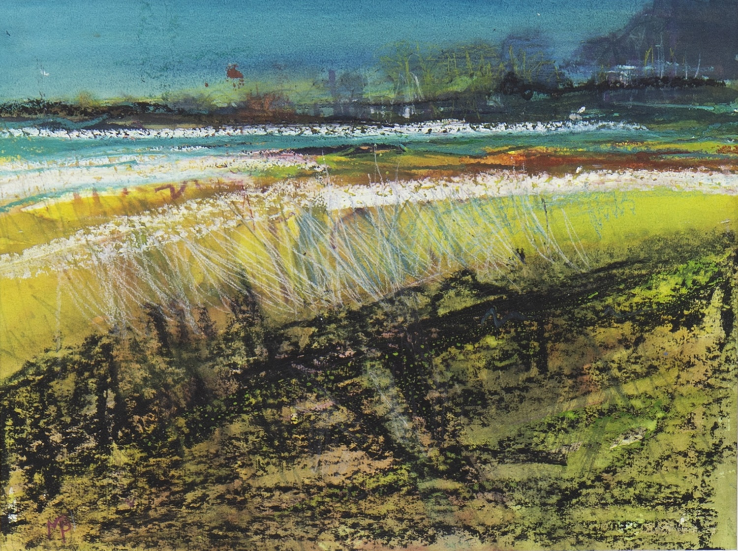 Lot 53 - AUTUMN GLADE, A MIXED MEDIA BY MAY BYRNE