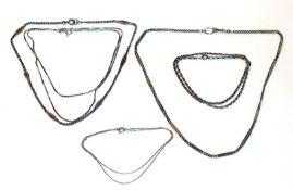 Konvolut von 6 verschiedenen Silberketten, L 36/58 cm