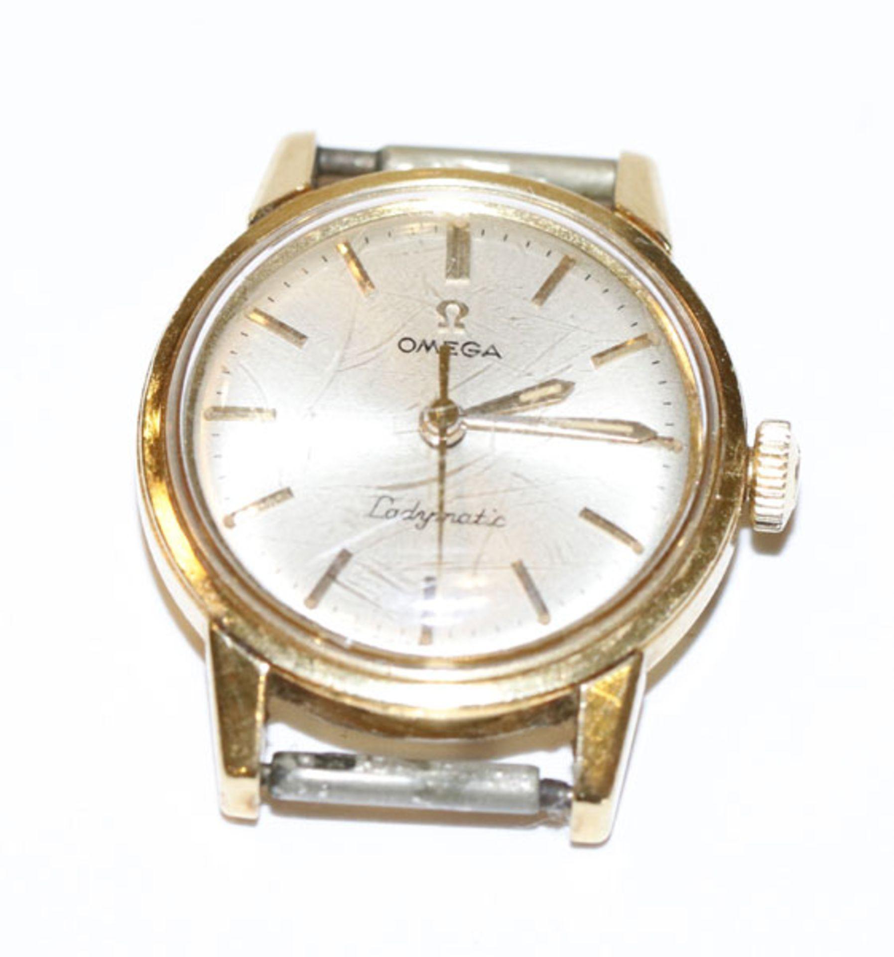 Omega Ladymatik Damen Armbanduhr, 18 k Gehäuse, 14,3 gr., Funktion nicht geprüft, Tragespuren,