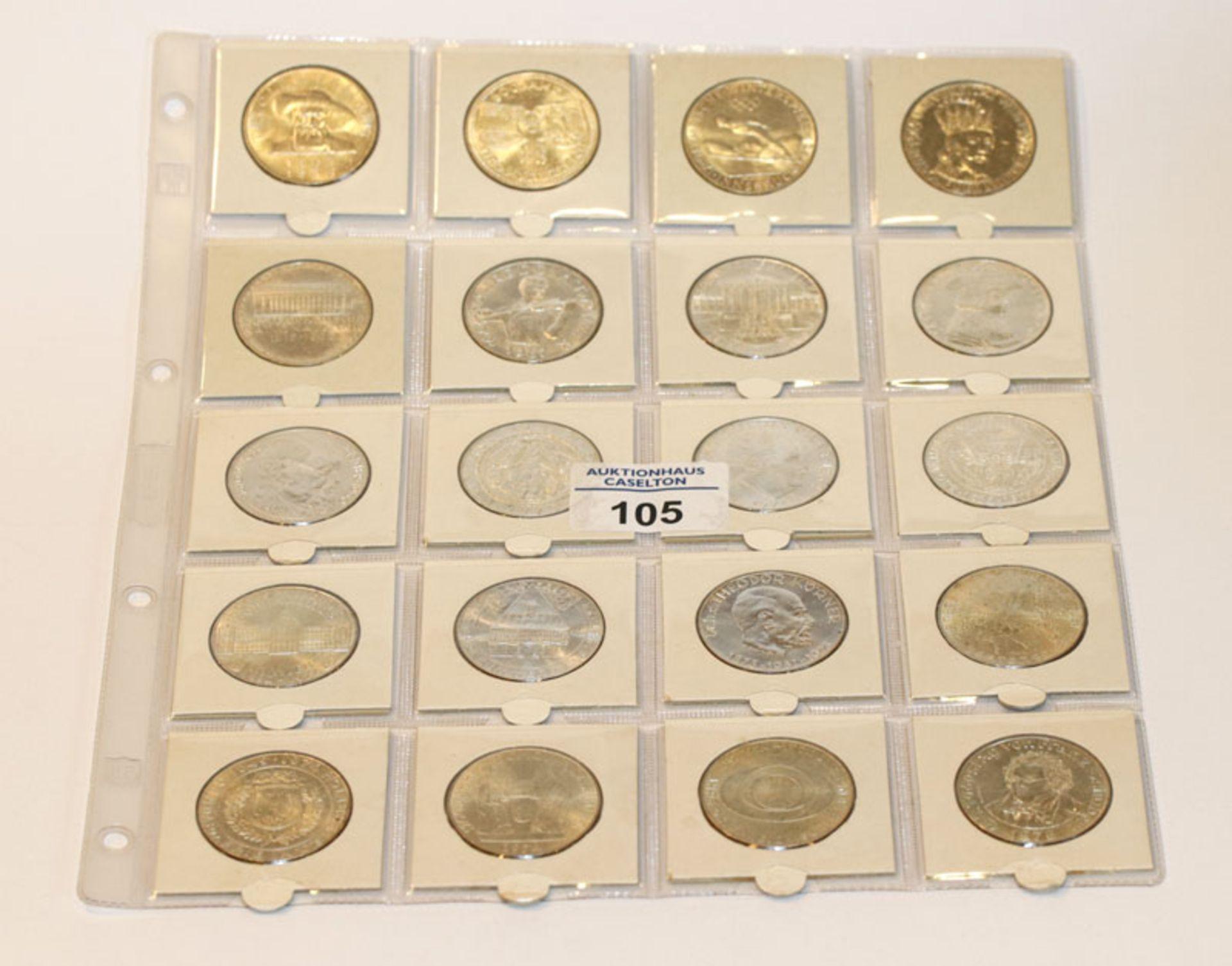 Satz von 209 Silbermünzen, 50 Schilling Österreich, 334 gr. Feinsilber