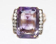 8 k Roégold Ring mit Amethyst, schöne Handarbeit, 7,9 gr., Gr. 55