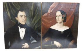 2 Gemälde ÖL/LW 'Damen- und Herrenportrait', signiert C. (Carl) Philippot, H M pinxit, 1845, *