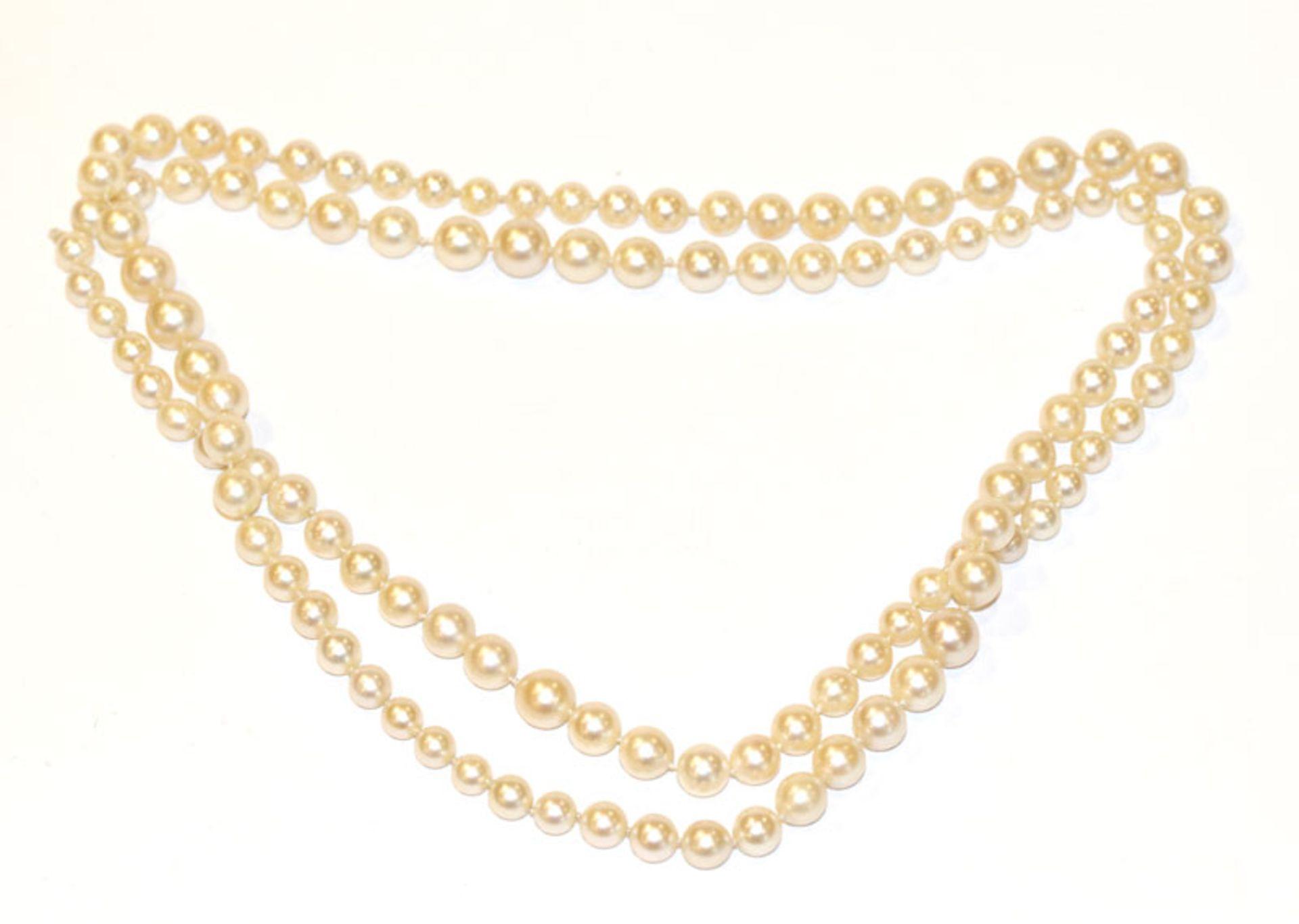 Endlos Perlenkette, Verlaufform, L 92 cm