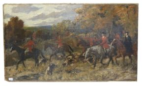 Gemälde ÖL/LW 'Treibjagd', signiert Richard B. (Benno) Adam, 1903, * 1873 München + 1937 München,