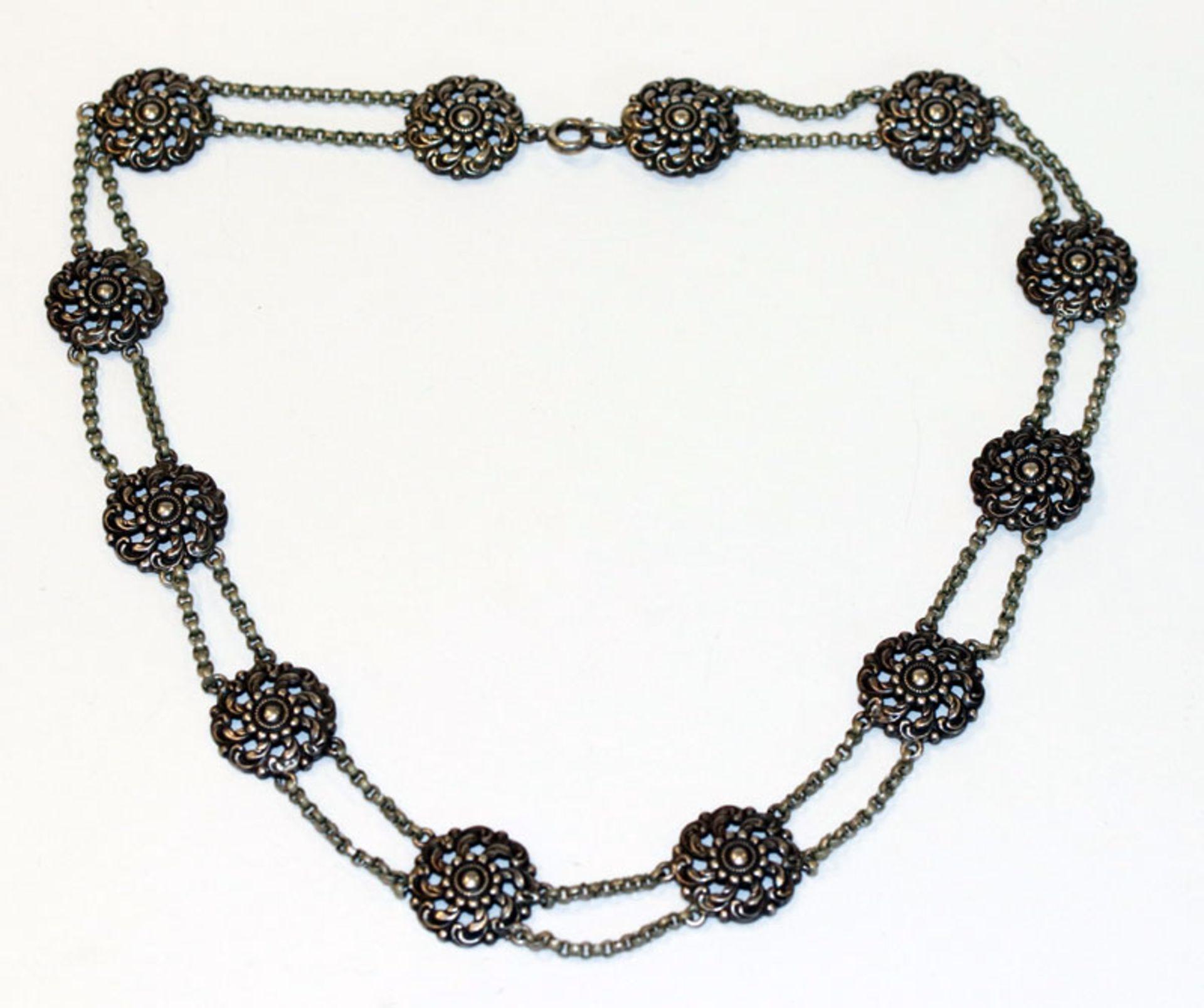 Silber Trachten-Collierkette, L 40 cm