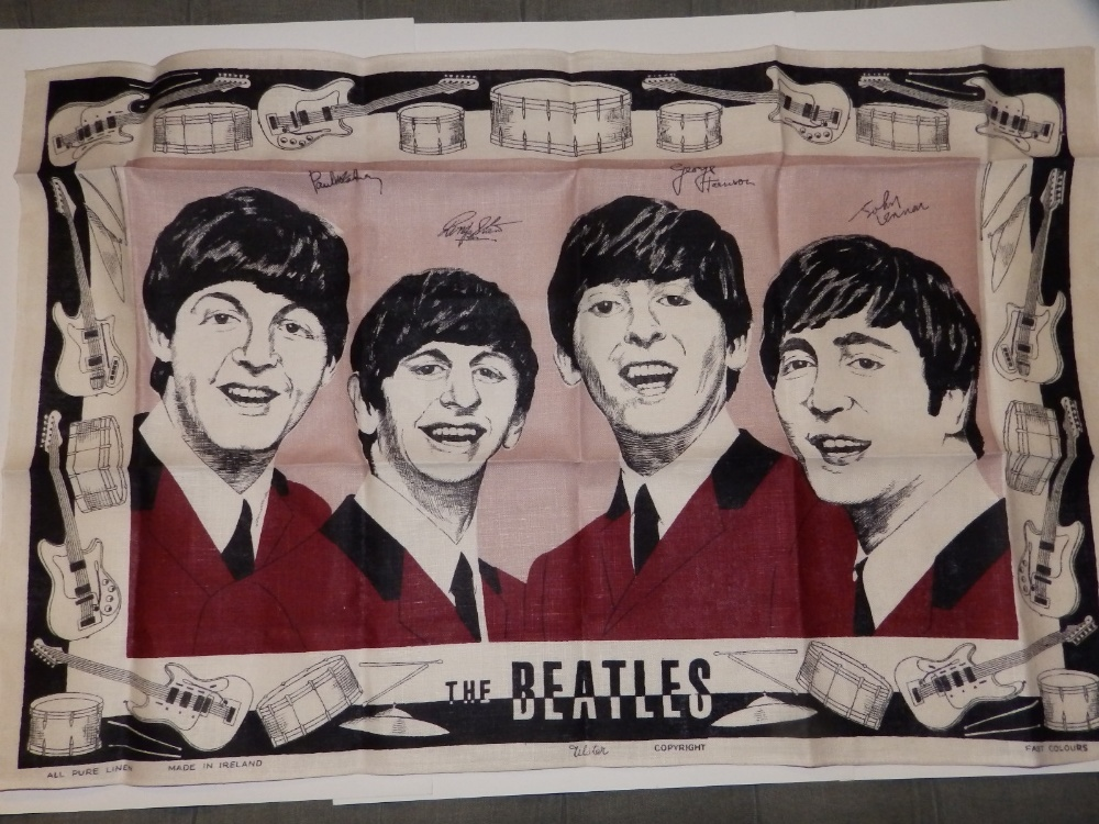 Lot 46 - A 1960's Beatles tea towel - as new.