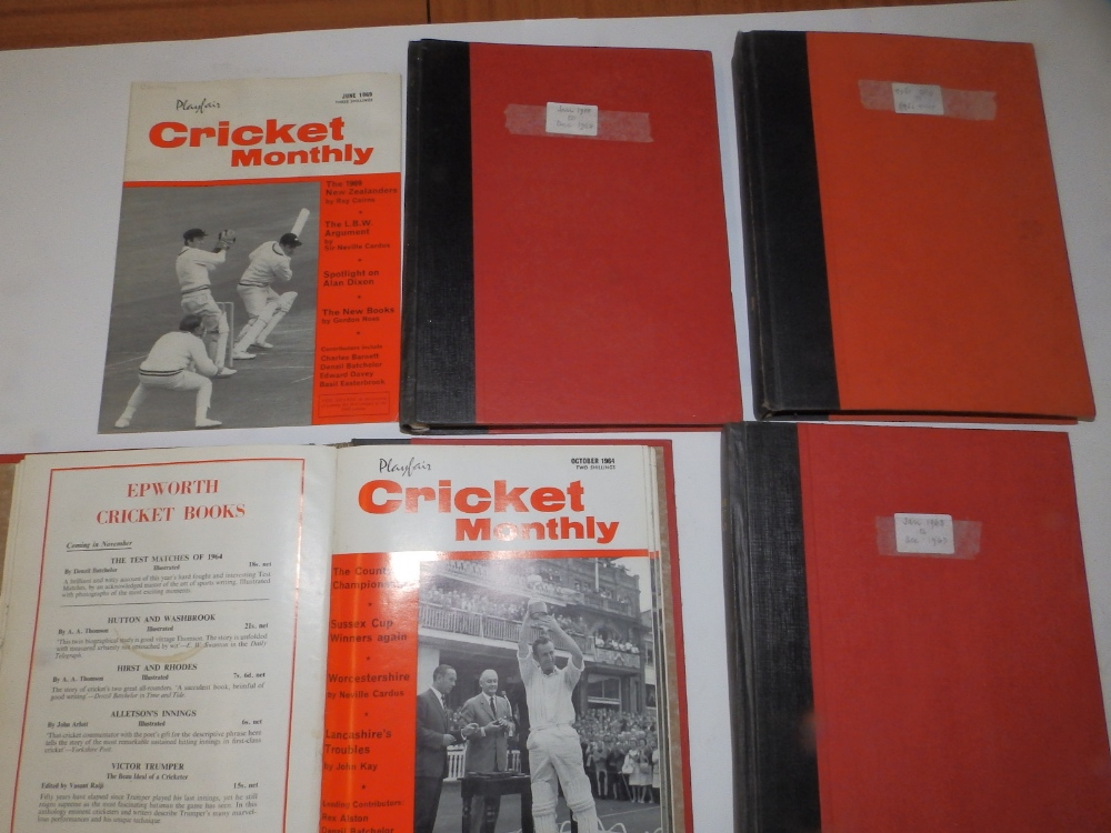 Lot 40 - A collection of 'Cricket Monthly' magazines - 1961-69.