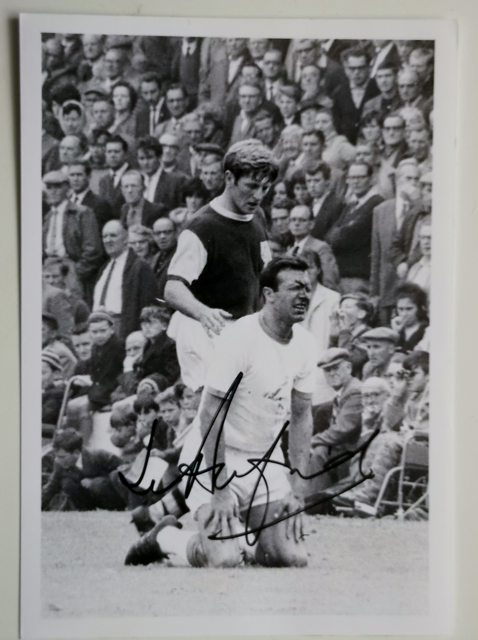 Lot 691 - BLACKPOOL V BURNLEY PHOTOGRAPH SIGNED BY JIMMY ARMFIELD