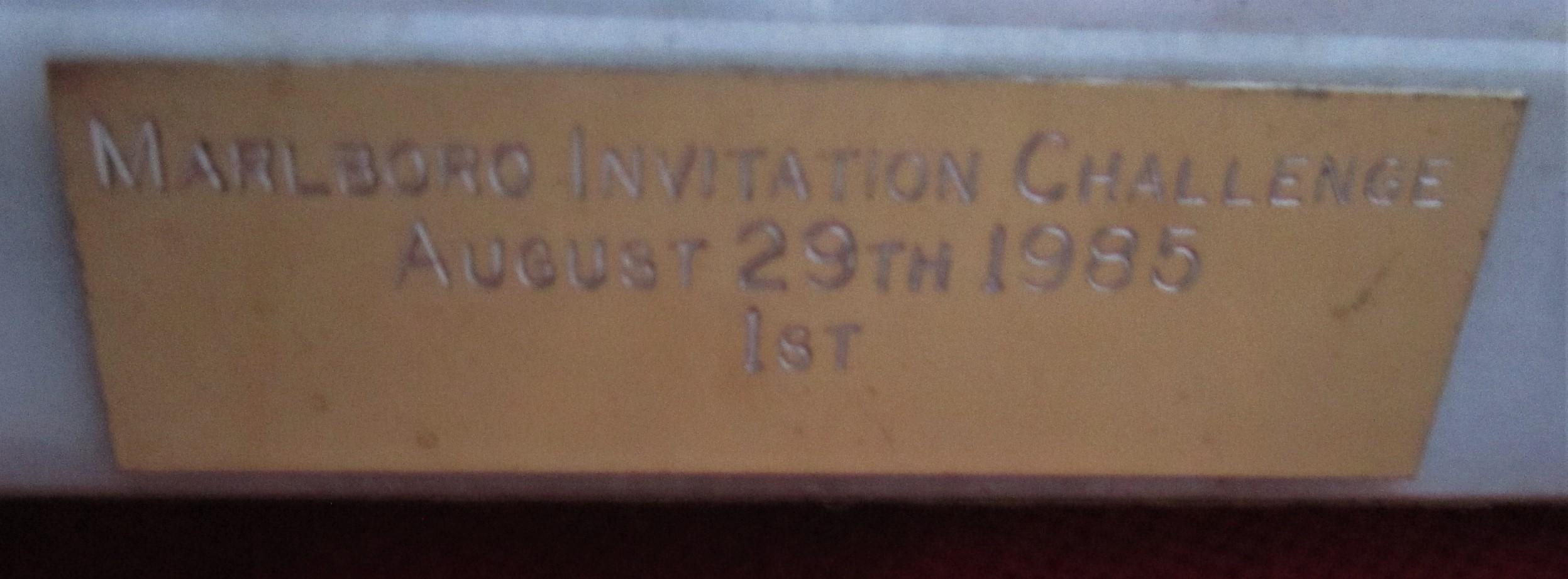Lot 443 - SPEEDWAY - MARLBORO INVITATION CHALLENGE TROPHY 1985