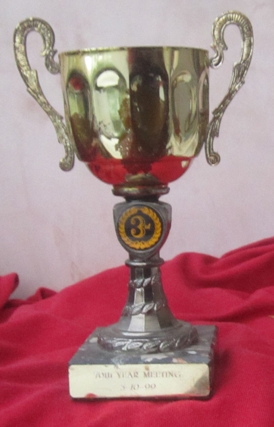 Lot 314 - SPEEDWAY - 70TH YEAR MEETING TROPHY 3RD PLACE