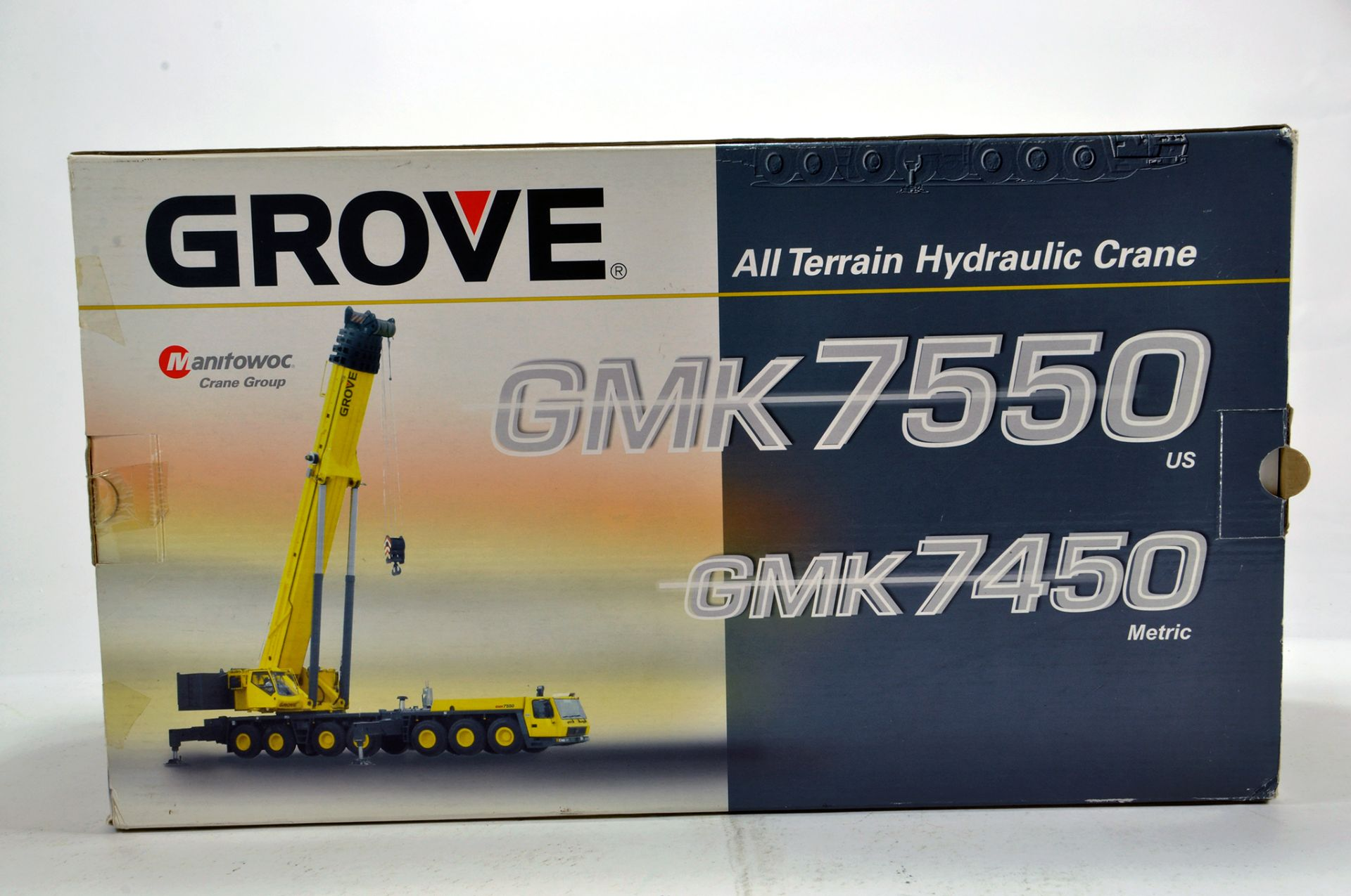 Lot 326 - NZG 1/50 Diecast Construction issue comprising Grove GMK 7550 / 7450 ATHC Mobile Crane. NM to M in