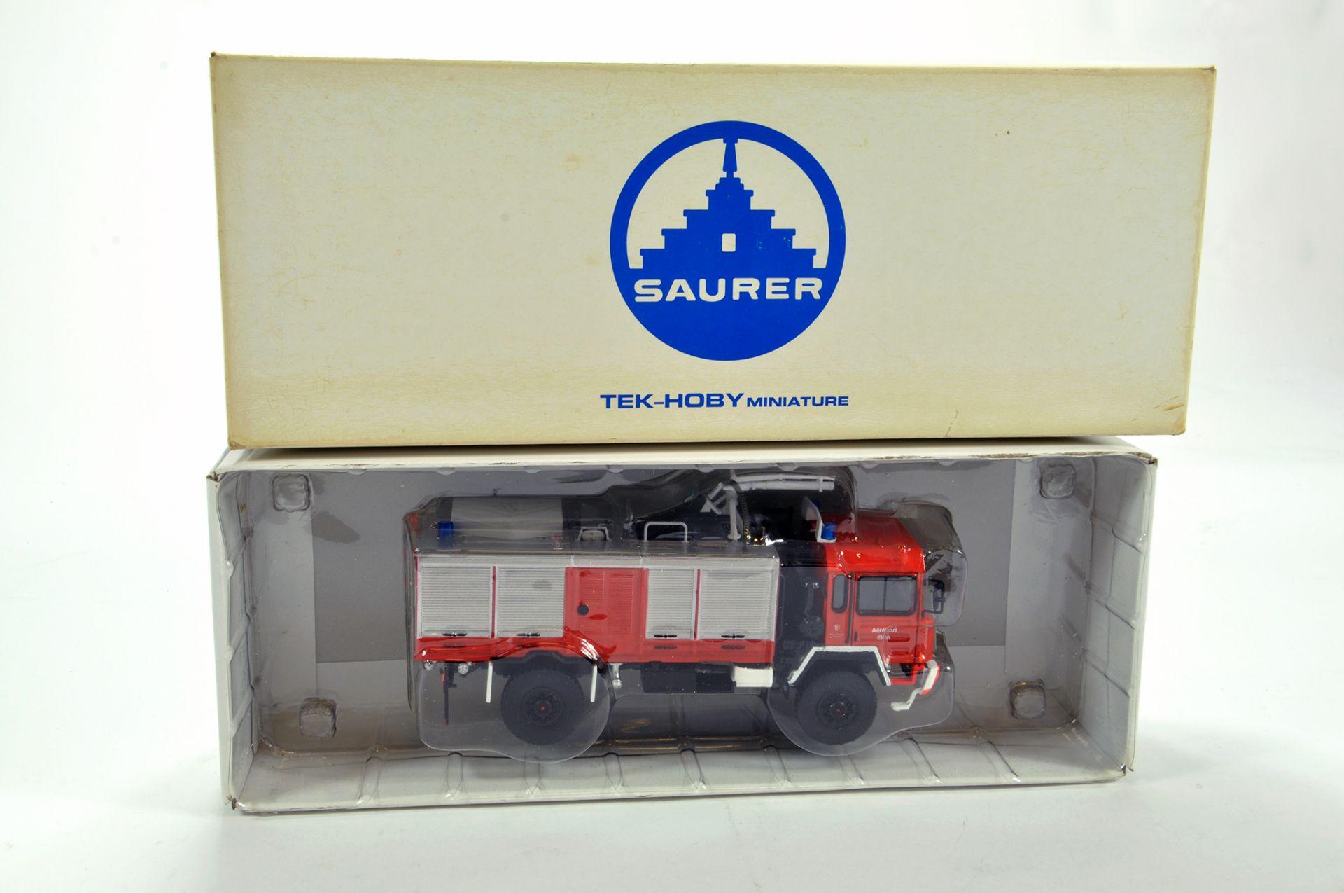 Lot 1080 - Tek Hobby (Swiss) Resin 1/50 Saurer Military Fire Appliance Truck. Scarce Issue is NM in Box.