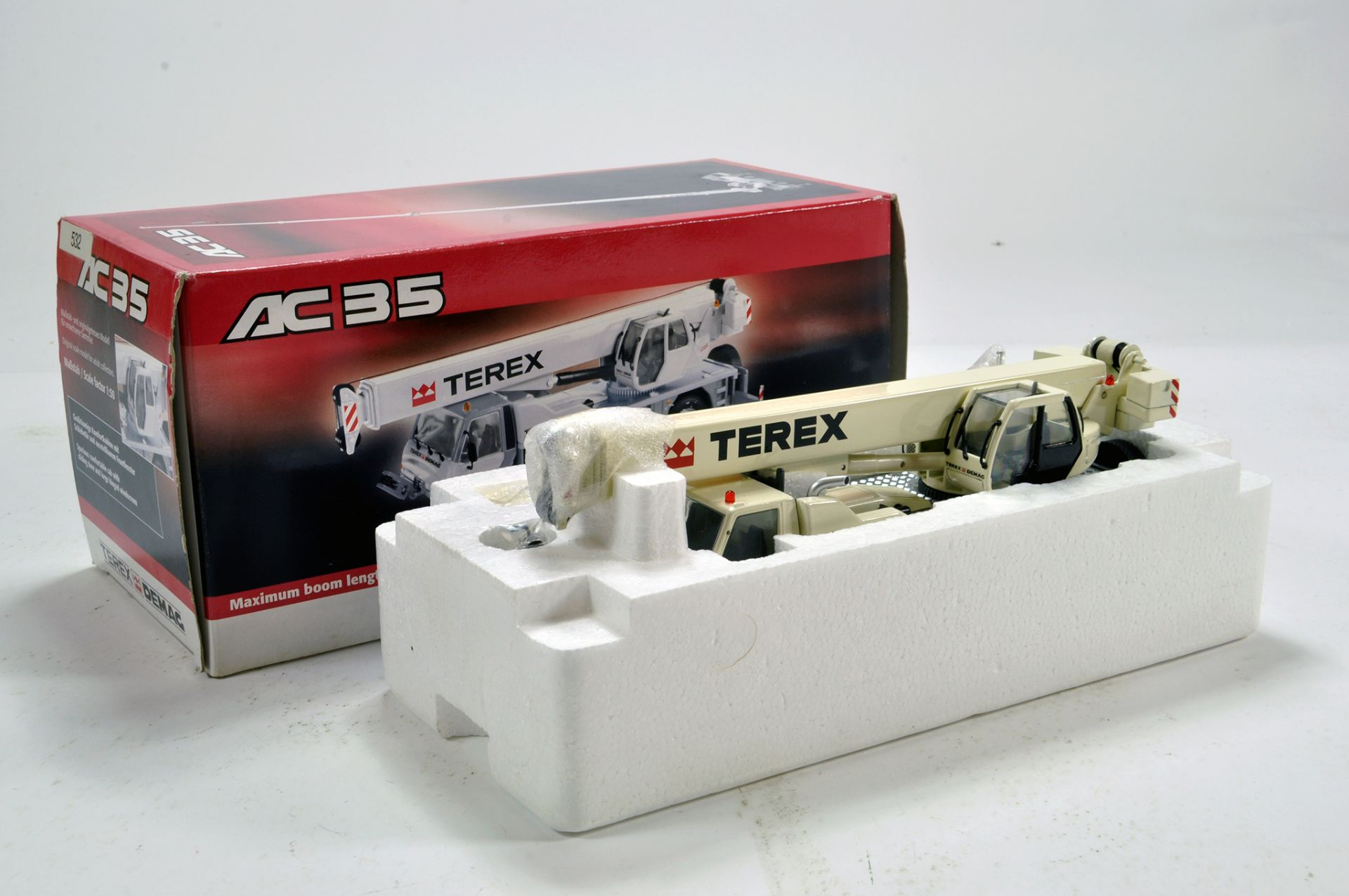 Lot 247 - NZG 1/50 Diecats Construction issue comprising Terex Demag AC35 Mobile Crane. E to NM to M in Box.