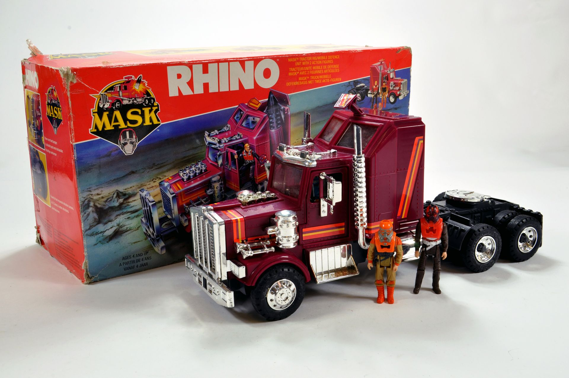 Lot 1056 - Original Kenner MASK Rhino issue complete with inner packaging. E in G Box.