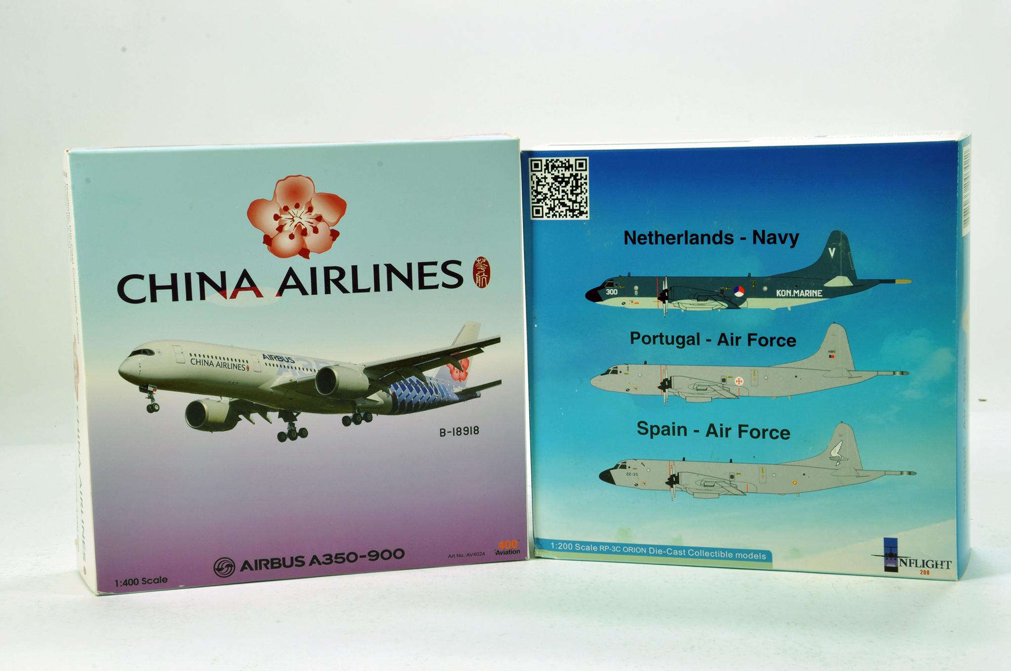 Lot 24 - Inflight Models 1/200 Diecast Aircraft Models comprising RP-3C Orion plus 1/400 400 Aviation