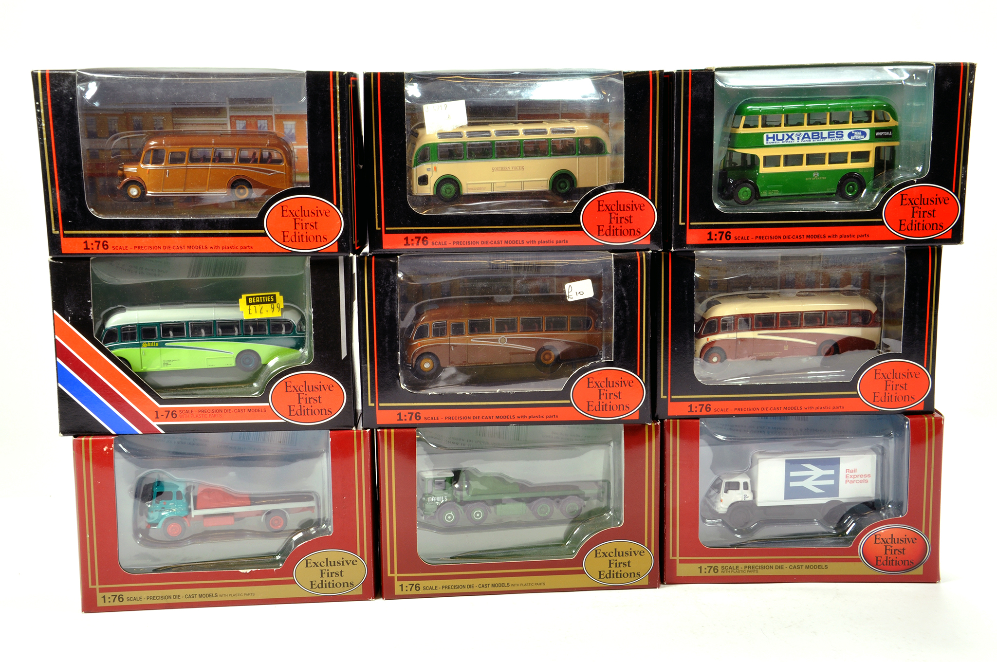 Lot 2 - EFE 1/76 diecast Bus and Commercial Truck group comprising various issues. Generally NM to M in