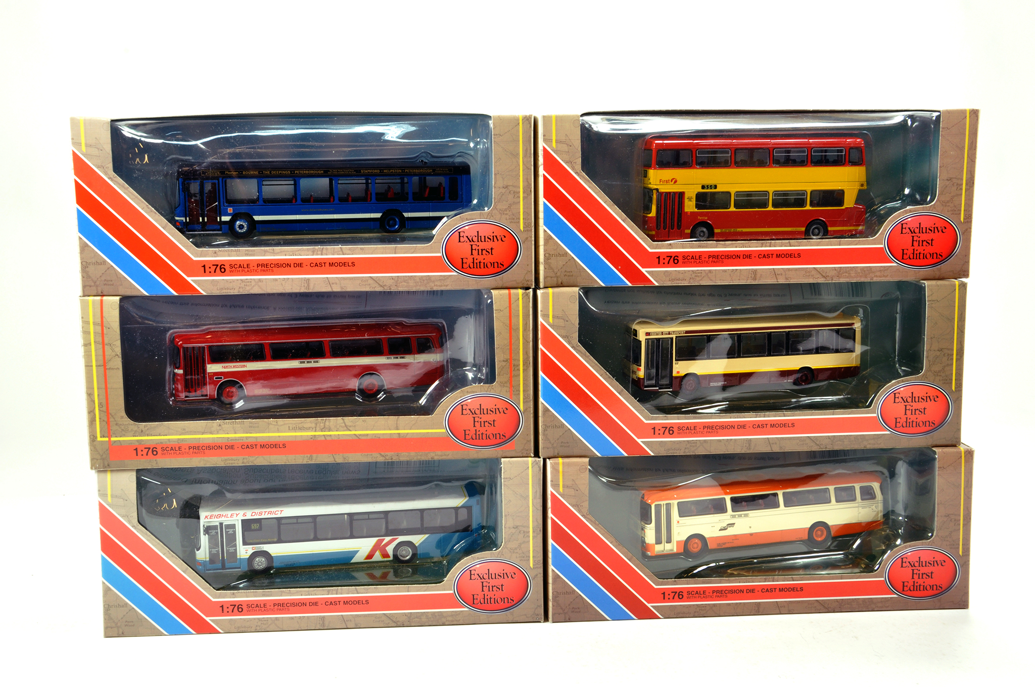 Lot 11 - EFE 1/76 diecast Bus group comprising various issues. Generally NM to M in Boxes. (6)