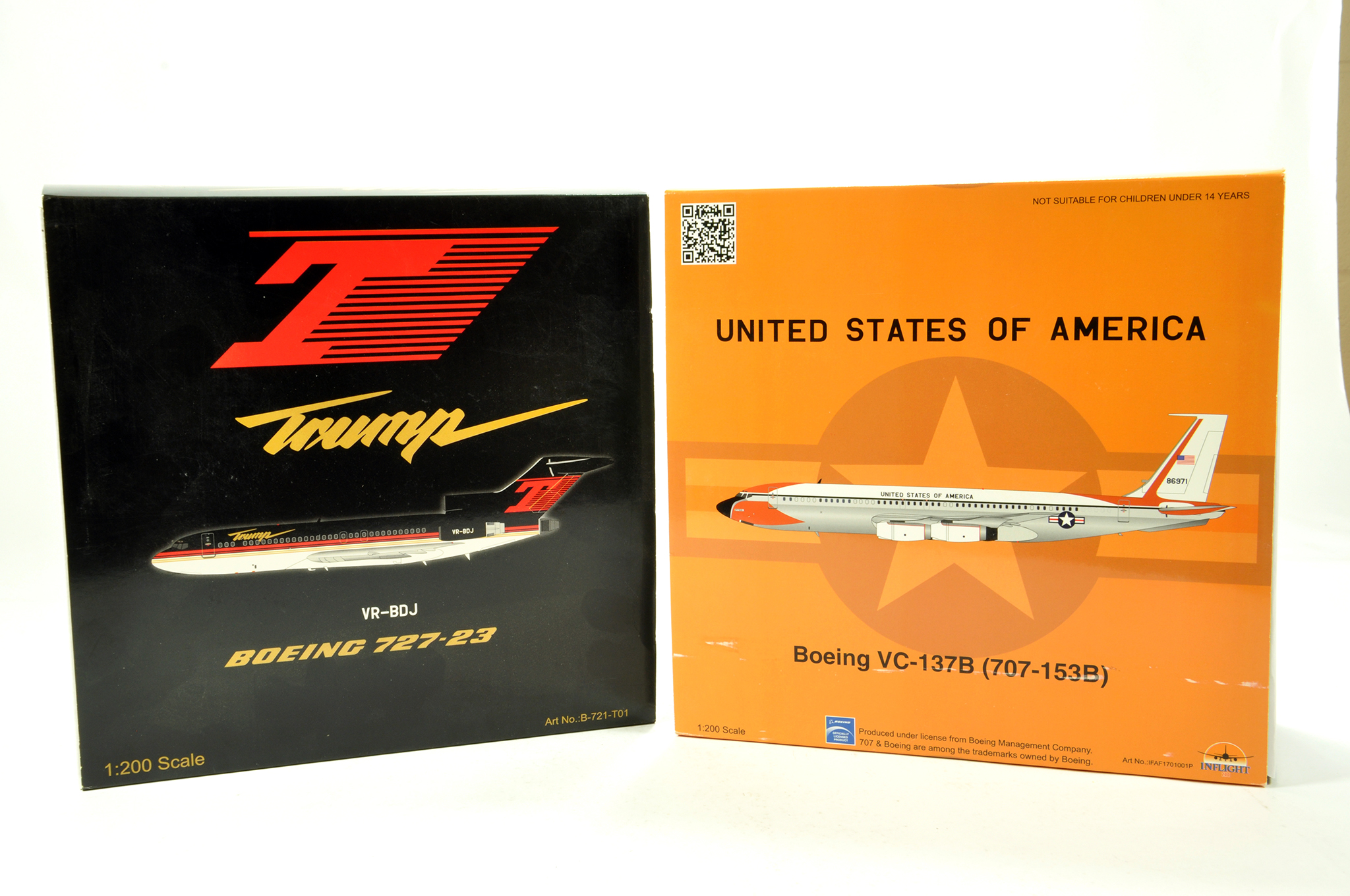 Lot 29 - Inflight Models 1/200 Diecast Aircraft Models comprising Boeing 727 plus Boeing VC-137B USA.