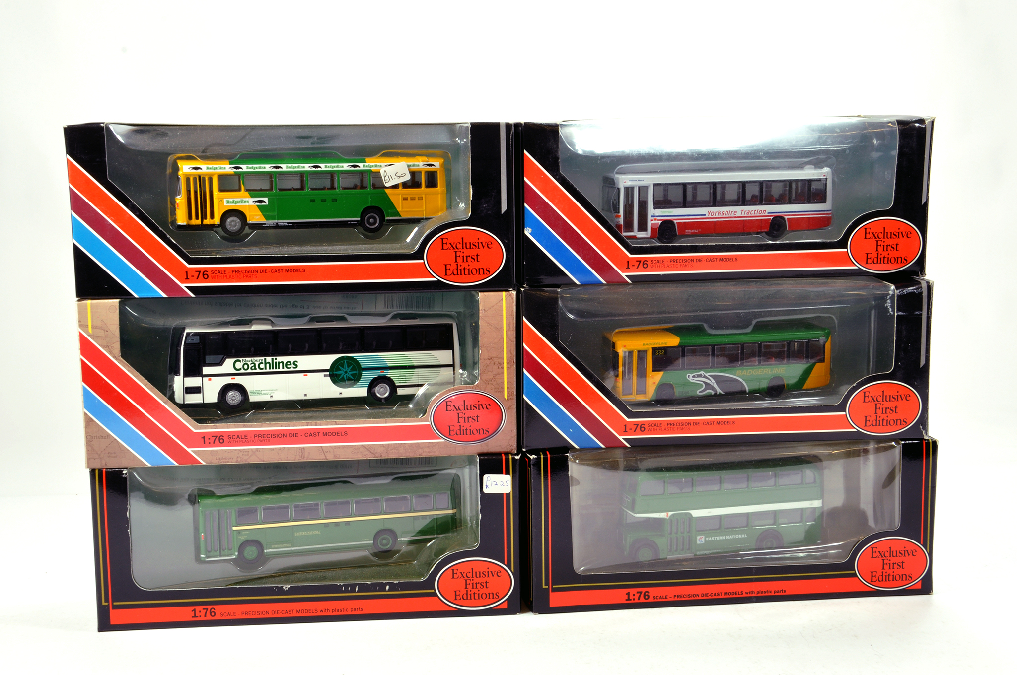 Lot 9 - EFE 1/76 diecast Bus group comprising various issues. Generally NM to M in Boxes. (6)