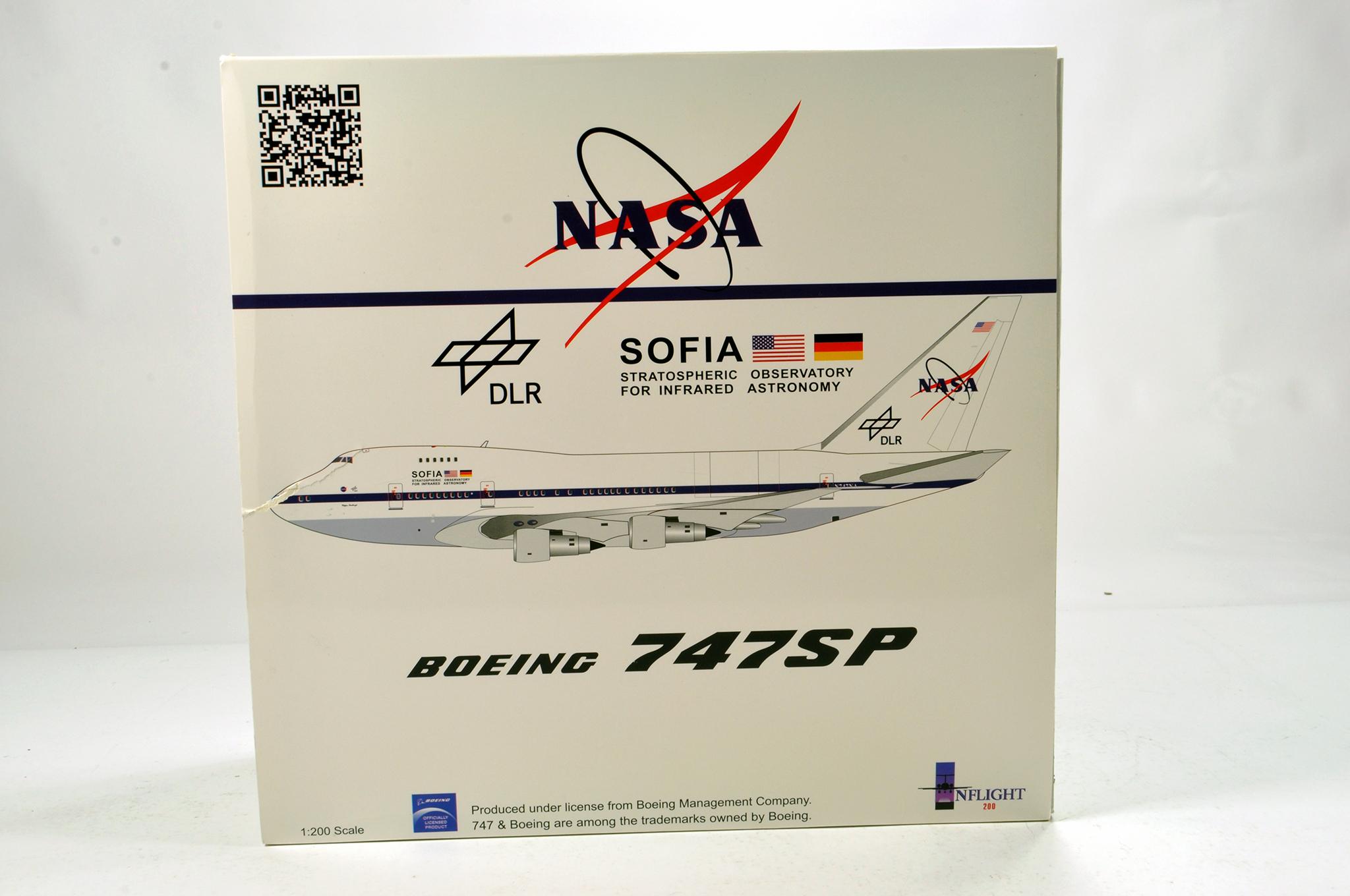 Lot 31 - Inflight Models 1/200 Diecast Aircraft Models comprising Boeing 747SP NASA. Graded ex shop stock.