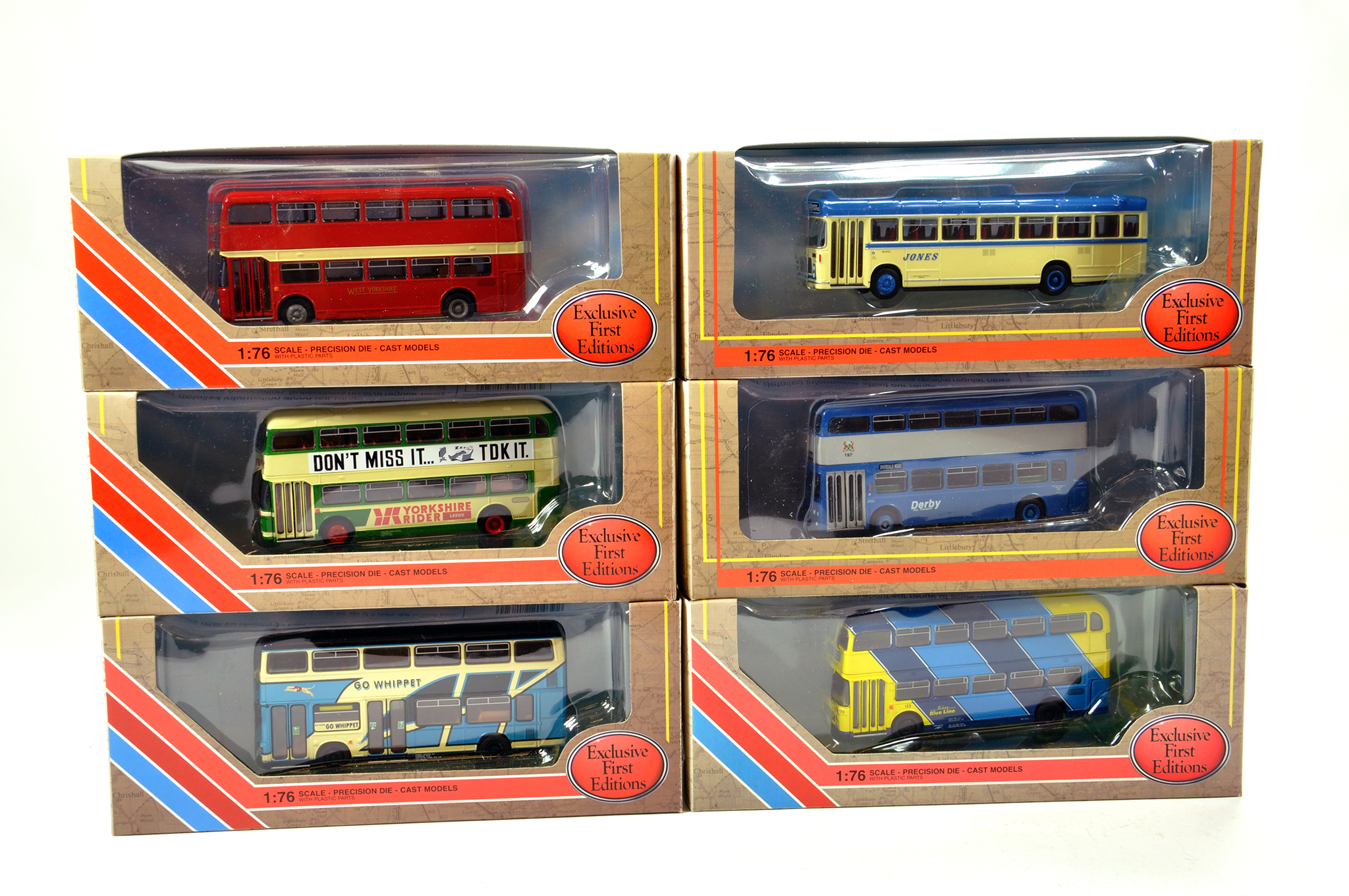 Lot 5 - EFE 1/76 diecast Bus group comprising various issues. Generally NM to M in Boxes. (6)