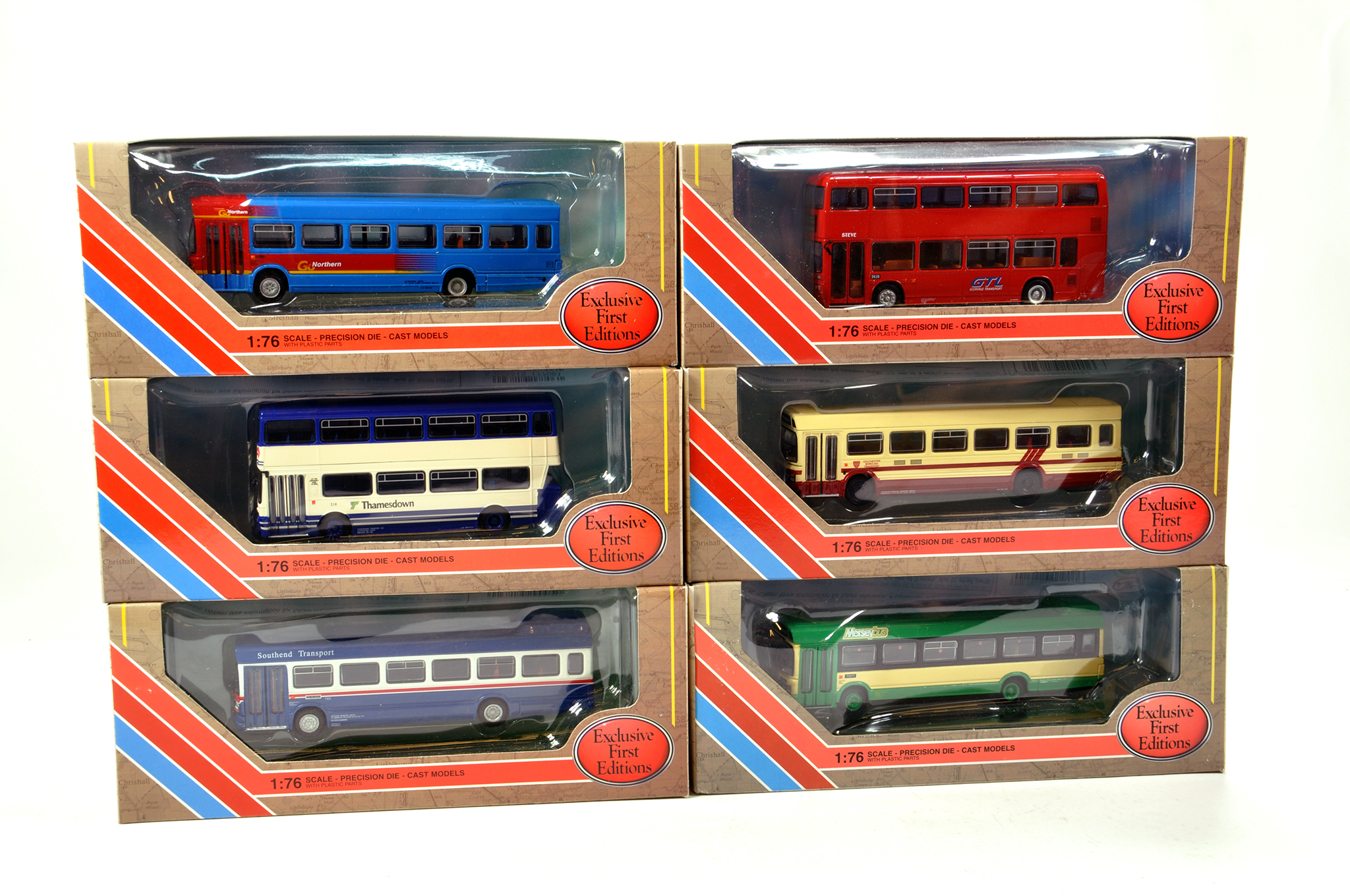 Lot 7 - EFE 1/76 diecast Bus group comprising various issues. Generally NM to M in Boxes. (6)