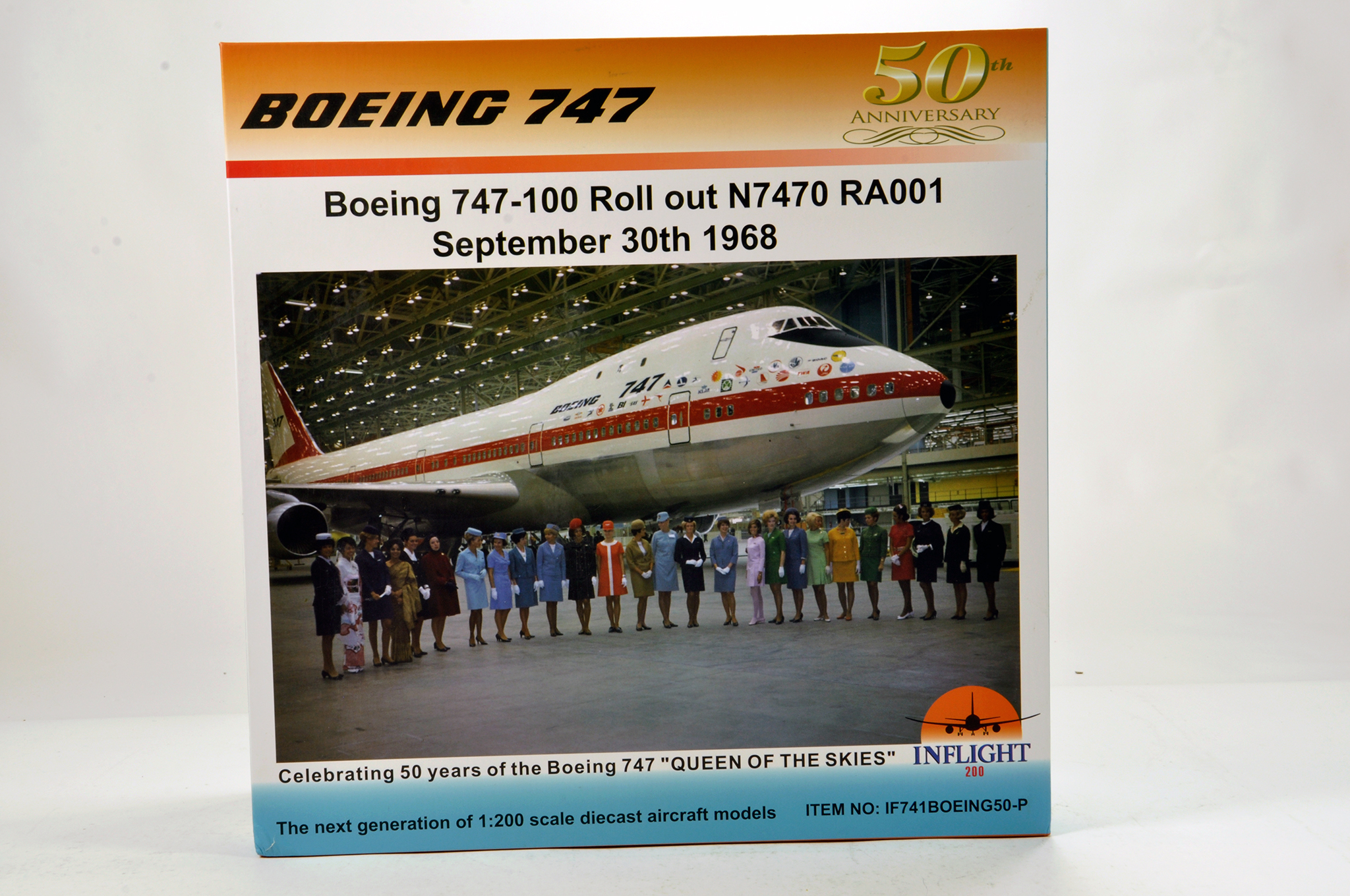 Lot 45 - Inflight Models 1/200 Diecast Aircraft Models comprising Boeing 747 Anniversary issue. Graded ex