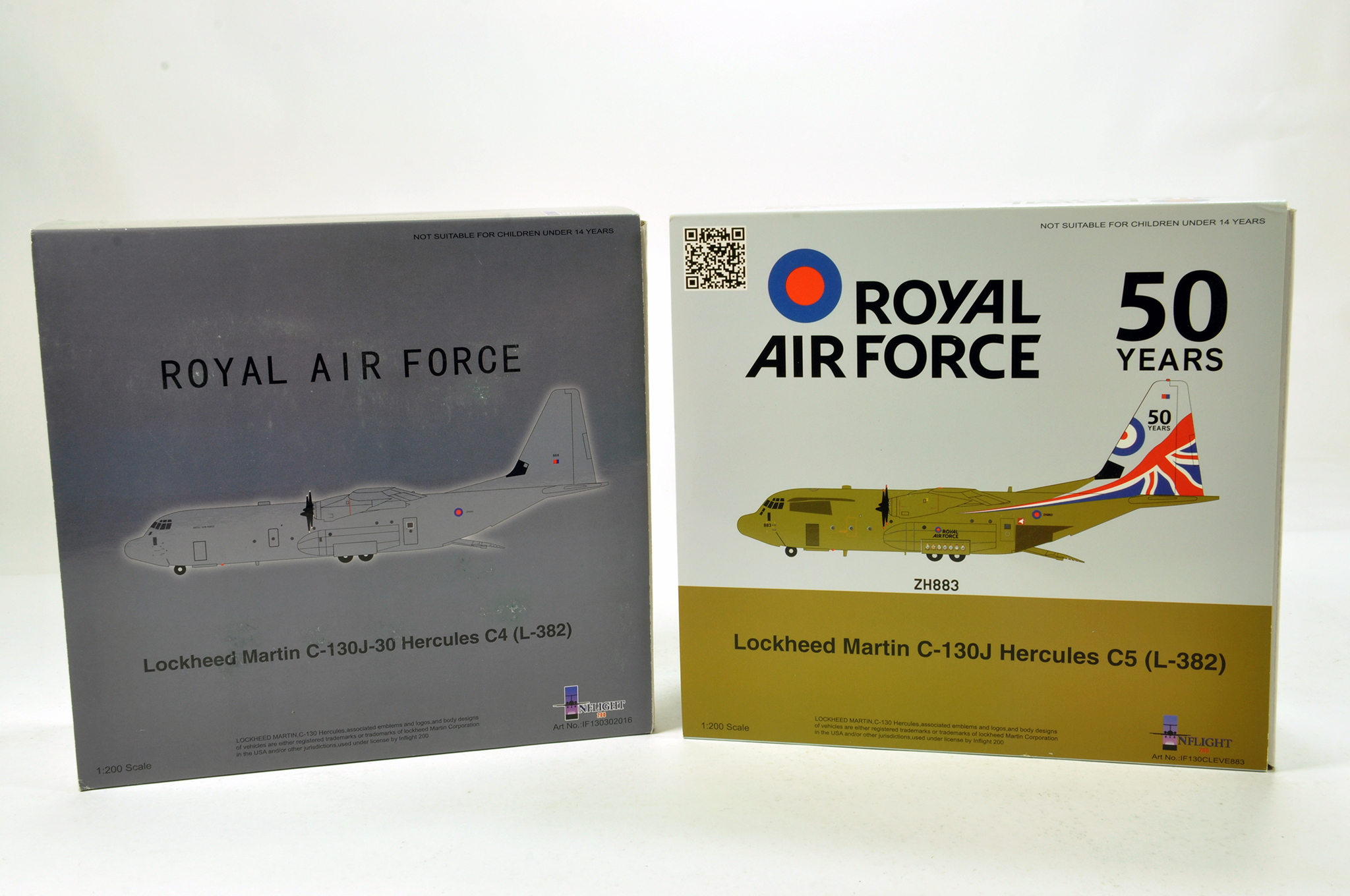 Lot 35 - Inflight Models 1/200 Diecast Aircraft Models comprising Lockheed Martin hercules issues in RAF