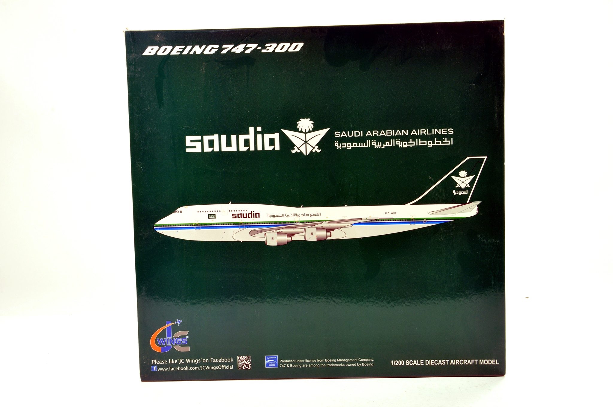 Lot 43 - JC Wings 1/200 Diecast Aircraft Models comprising Concorde plus Boeing 747 Saudia. Graded ex shop