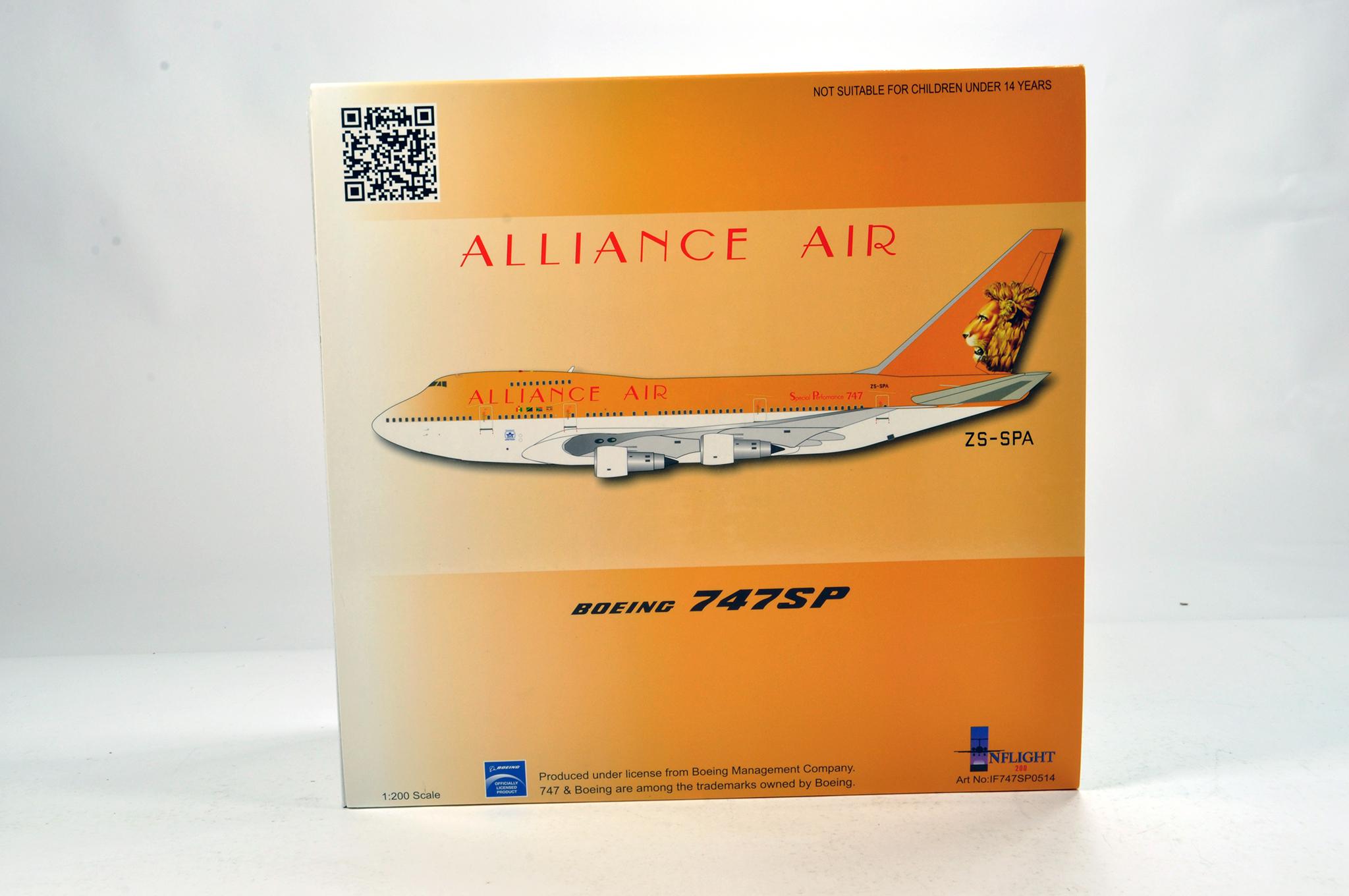 Lot 30 - Inflight Models 1/200 Diecast Aircraft Models comprising Boeing 747SP Alliance Air. Graded ex shop
