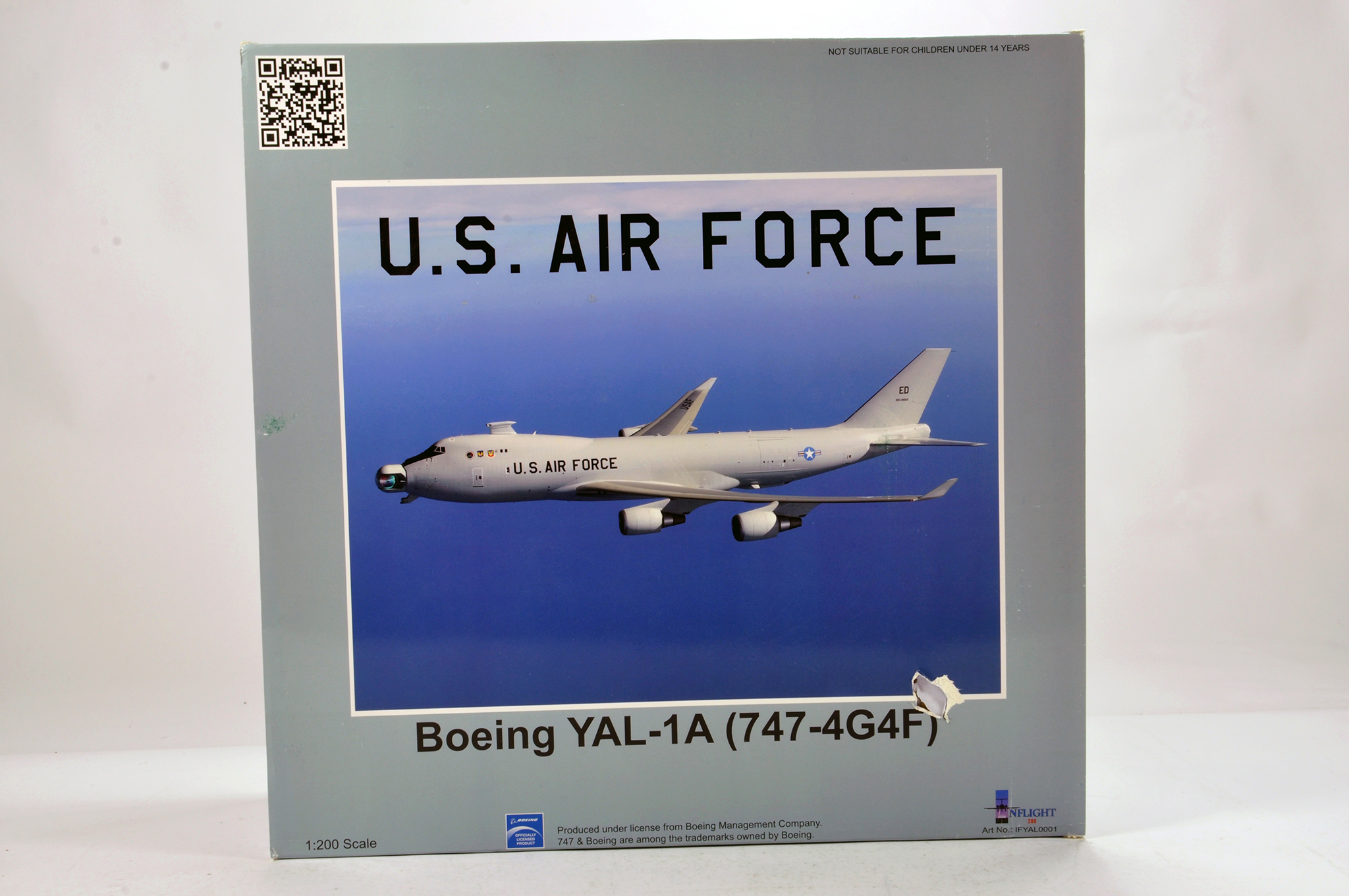 Lot 27 - Inflight Models 1/200 Diecast Aircraft Models comprising Boeing YAL-1A 747 US Air Force. Graded ex
