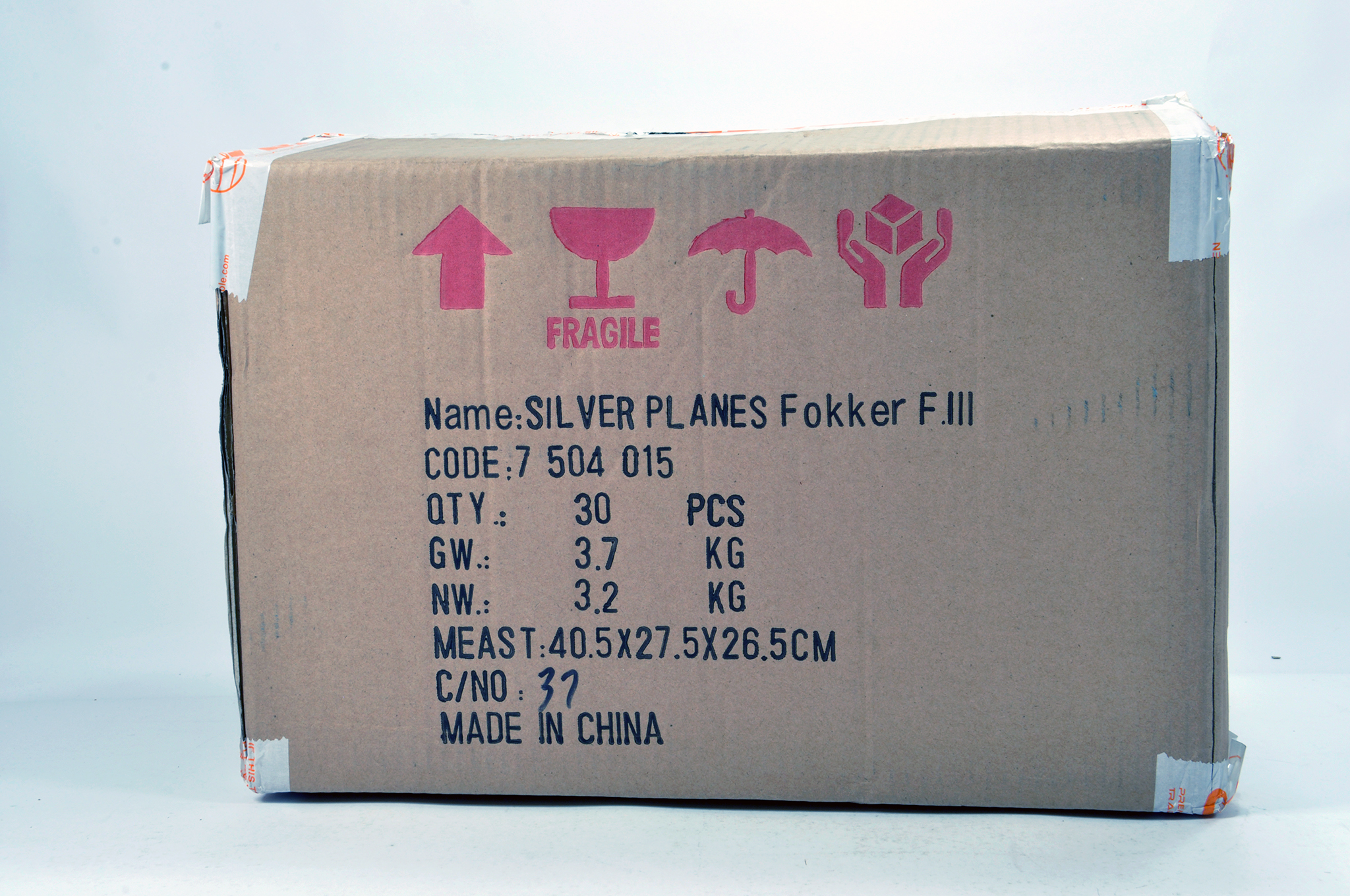 Lot 52 - Silver Planes Promotional Aircraft Diecast issues comprising tradebox of Fokker F.III. NM to M in