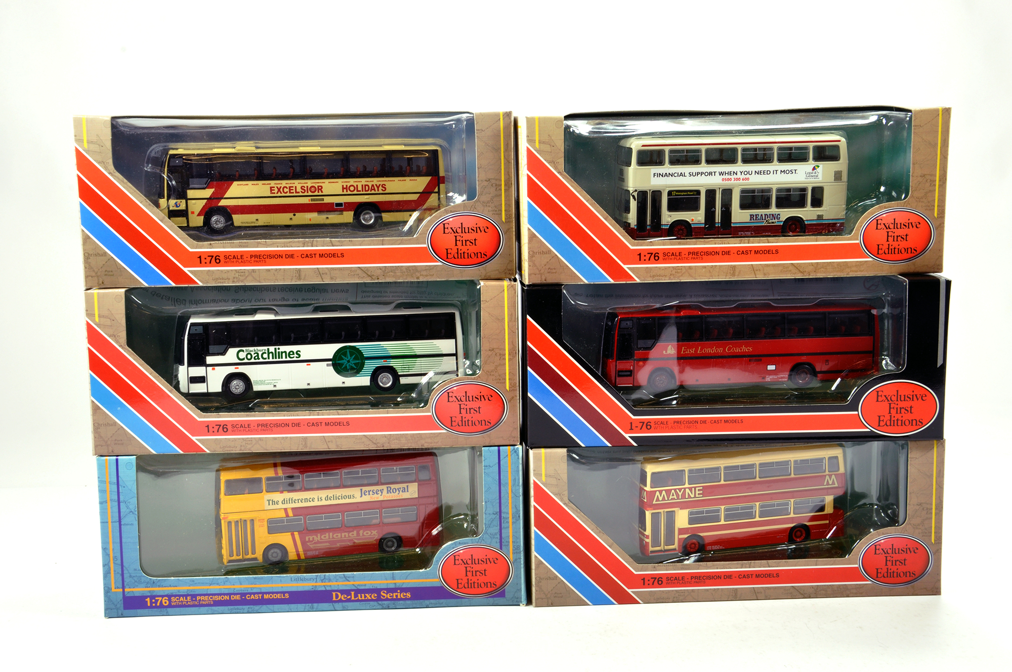 Lot 13 - EFE 1/76 diecast Bus group comprising various issues. Generally NM to M in Boxes. (6)