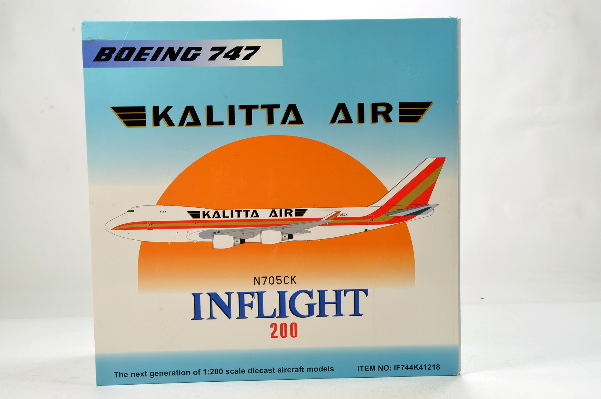 Lot 47 - Inflight Models 1/200 Diecast Aircraft Models comprising Boeing 747 Kalitta Air. Graded ex shop
