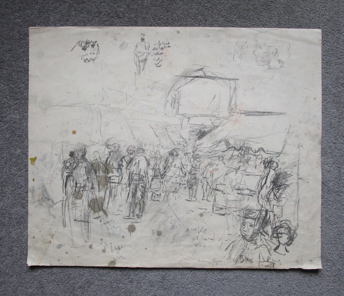 Lot 24 - ANTHONY EYTON RA [b. 1923] A collection of four sketches, c.1980.one watercolour and three pencil,