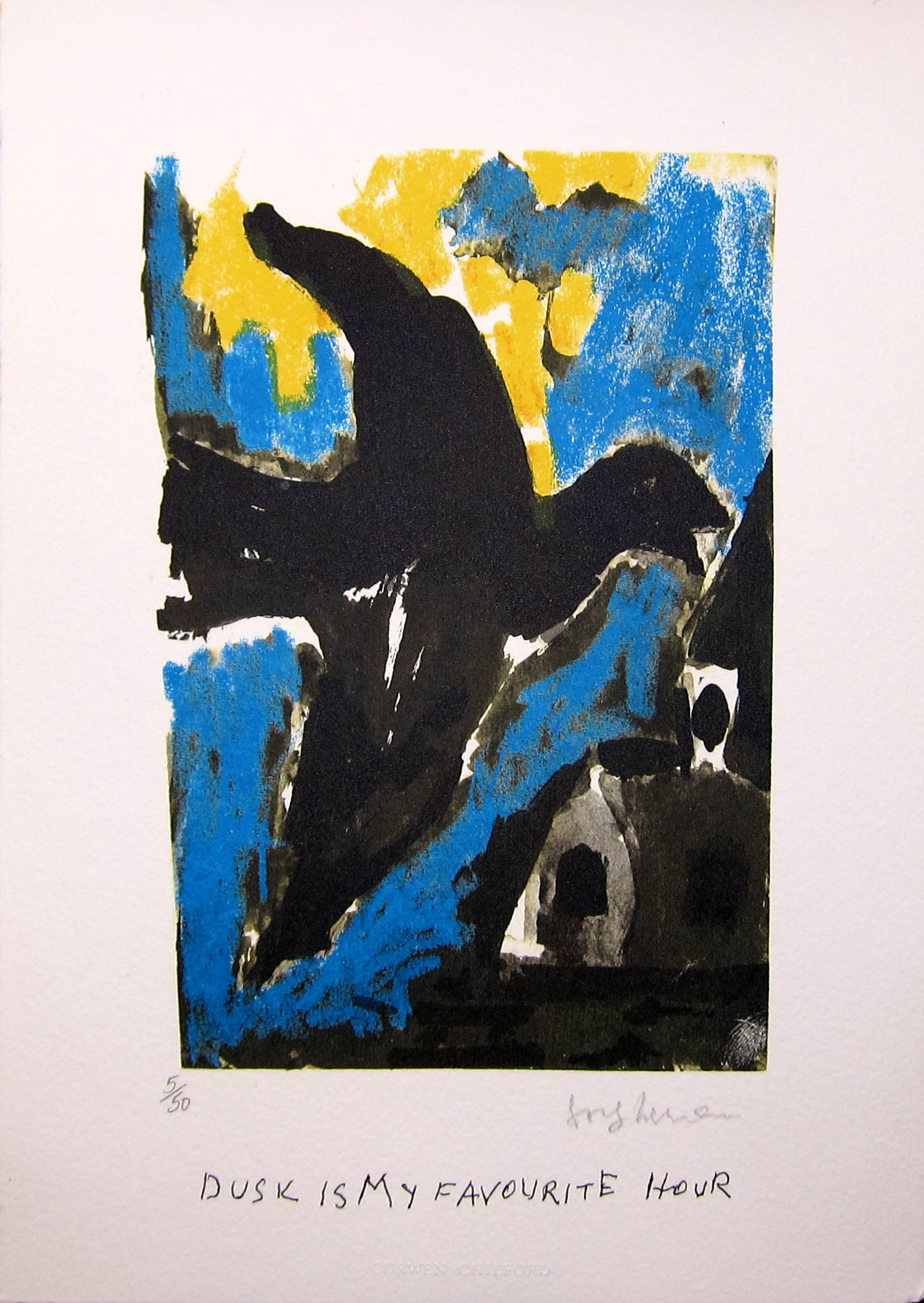 Lot 26 - JOSEF HERMAN R.A. [1911-2000]. Dusk is my favourite hour [Song of the Migrant Bird], 1999.