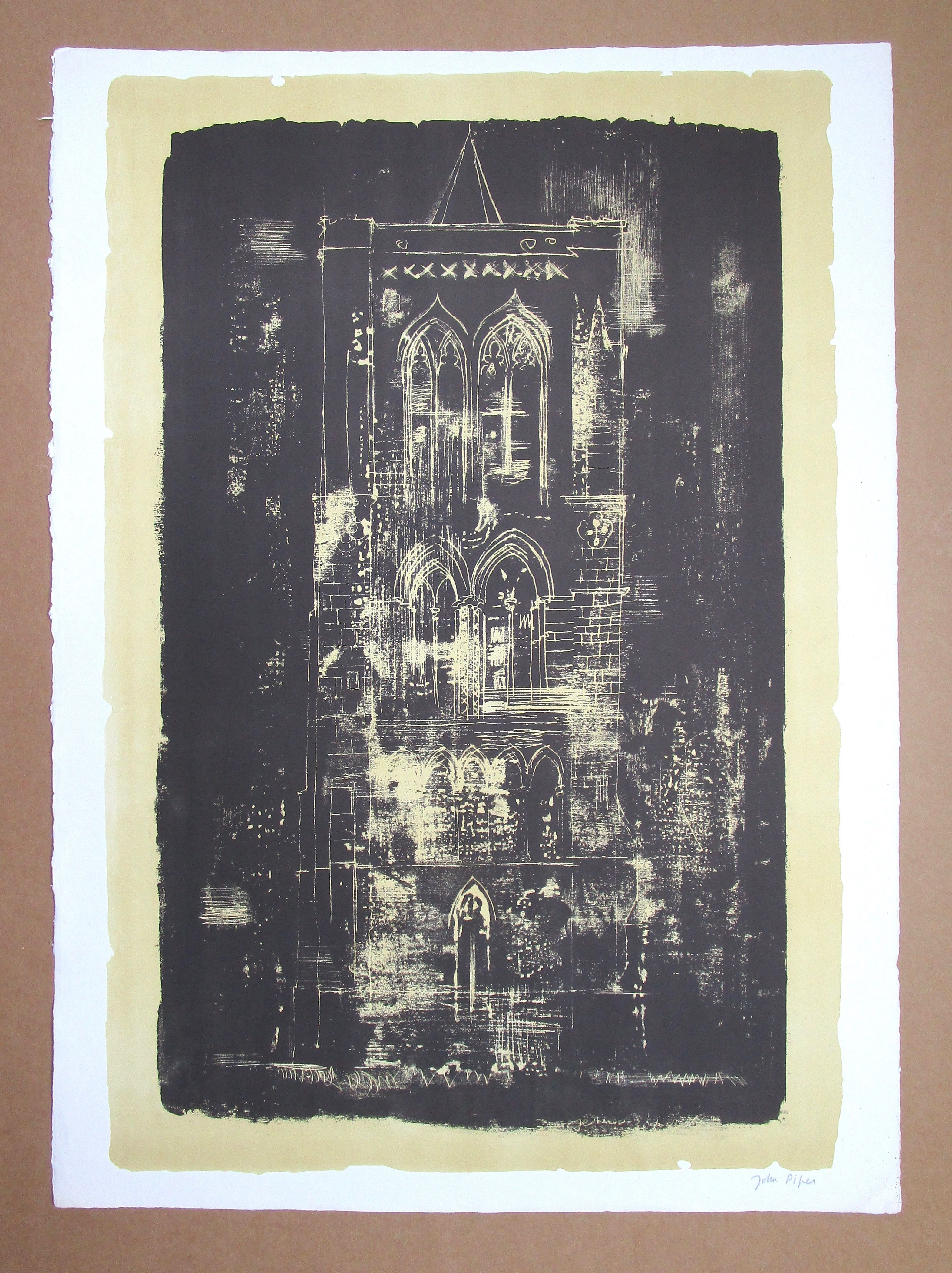 Lot 16 - JOHN PIPER CH [1903-1992] Gedney, Lincolnshire, 1964.lithograph on handmade Barcham Green paper,