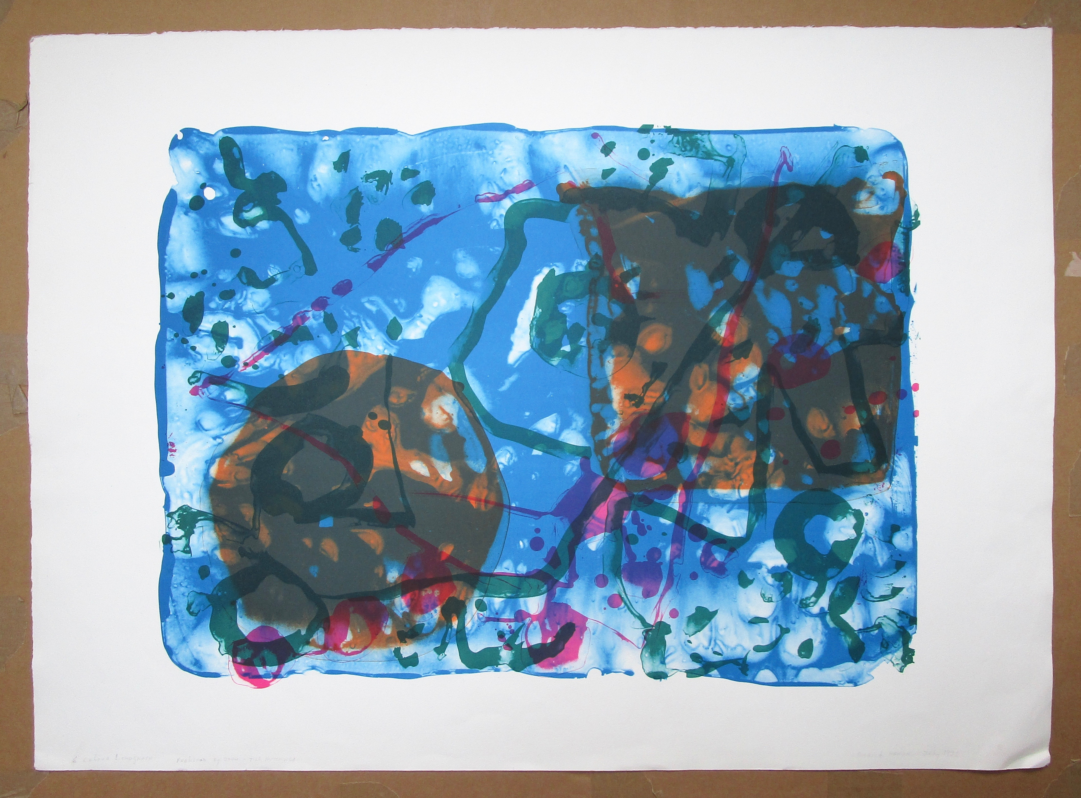 Lot 7 - PATRICK HERON [1920-1999] Anniversary, 1998.lithograph on Somerset paper, edition of 40, published