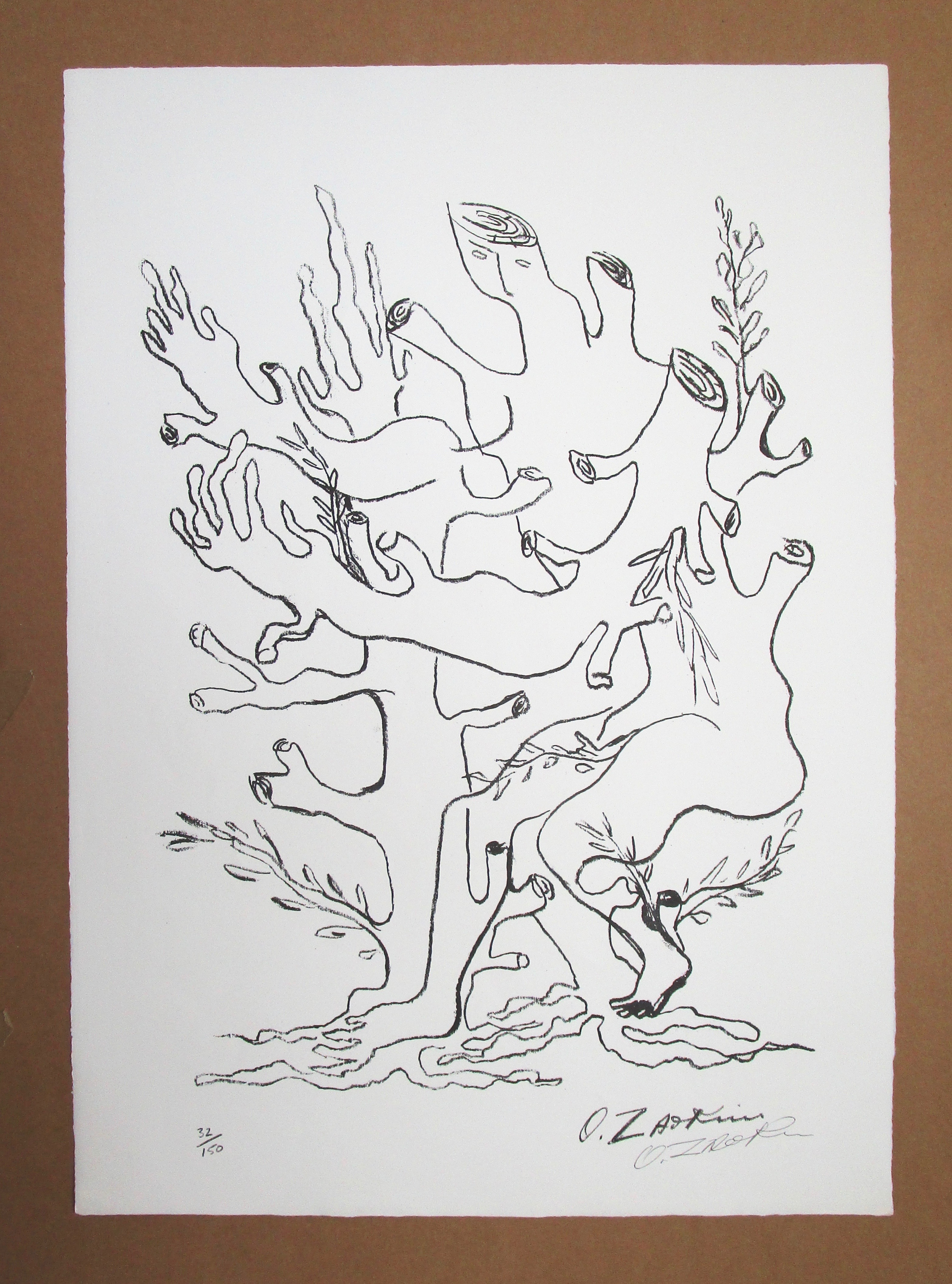 Lot 20 - OSSIP ZADKINE [1888-1967] Daphne Treeform, 1964.lithograph on Barcham Green paper, edition of 150,