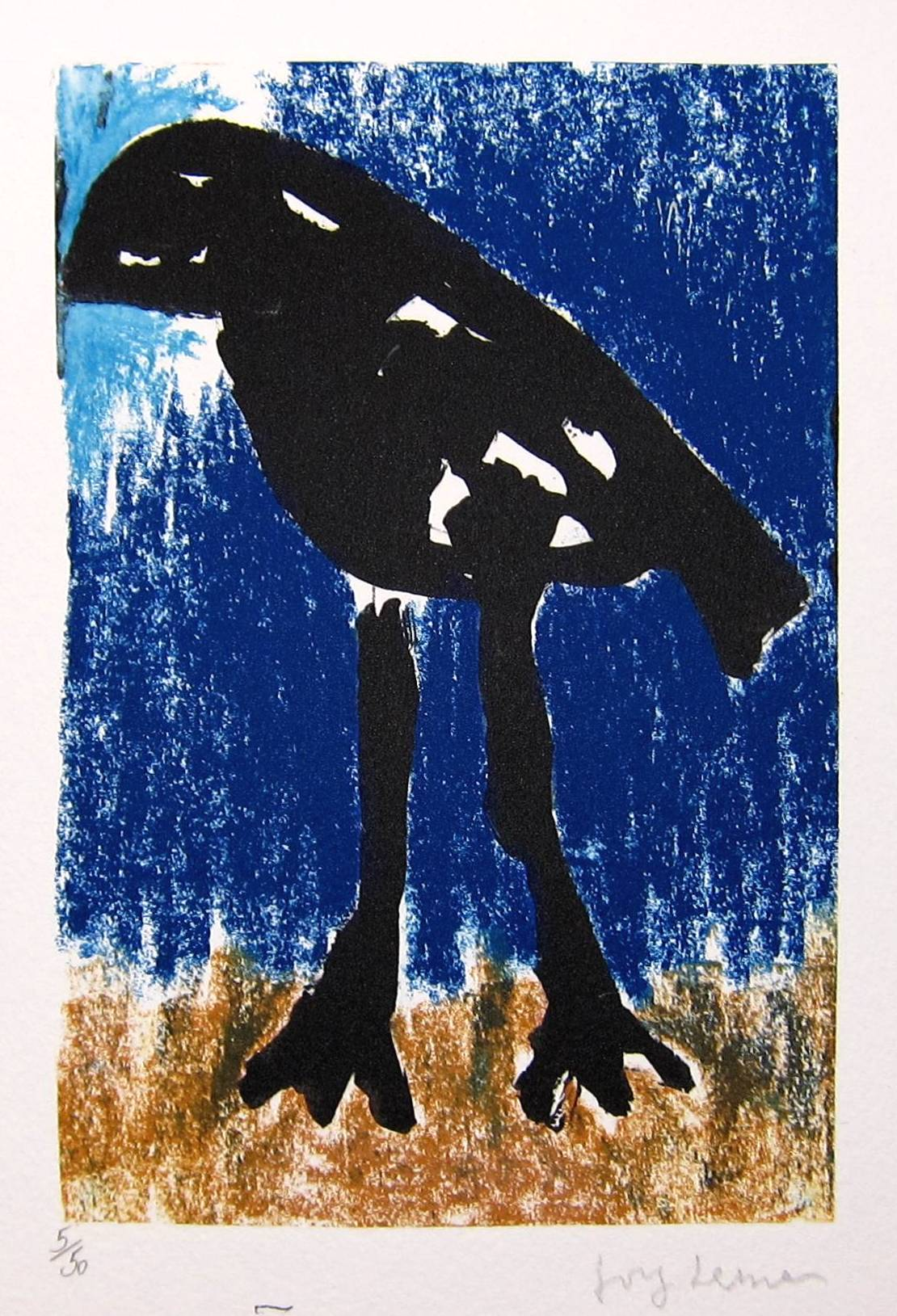 Lot 27 - JOSEF HERMAN R.A. [1911-2000]. The Wanderer [Song of the Migrant Bird], 1999. lithograph, edition of