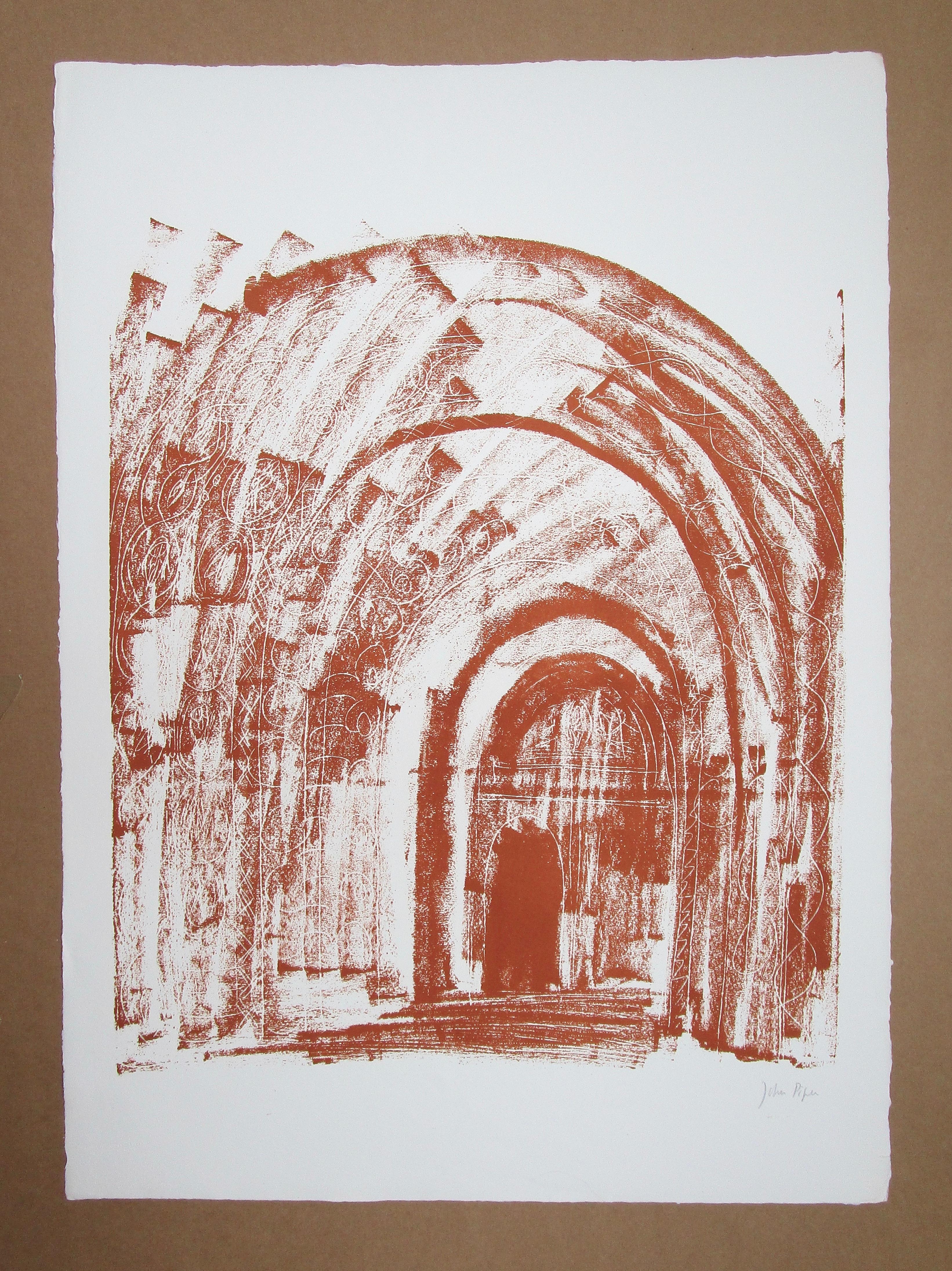 Lot 18 - JOHN PIPER CH [1903-1992] Malmesbury, Wiltshire, 1964.lithograph on handmade Barcham Green paper,