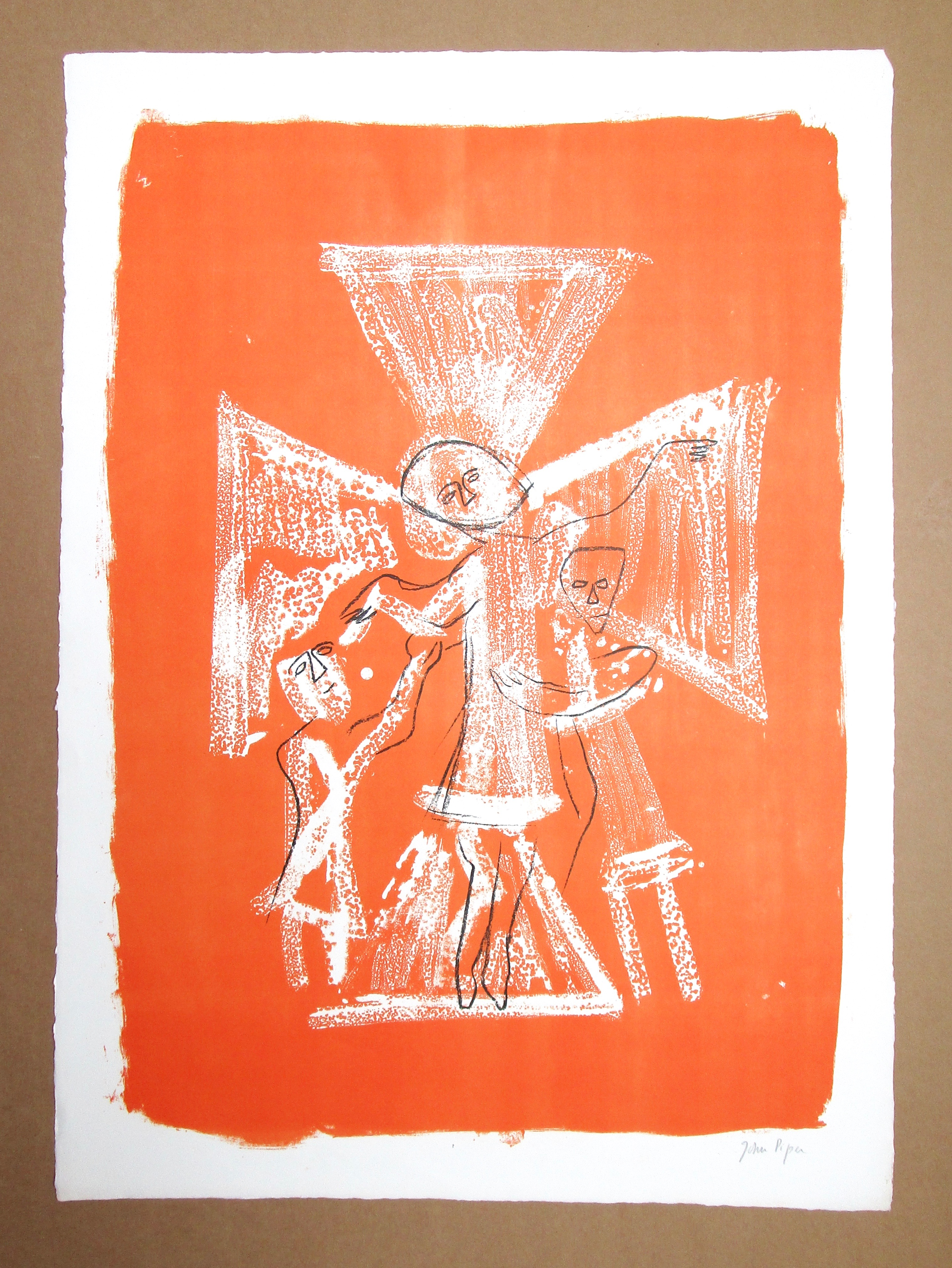 Lot 13 - JOHN PIPER CH [1903-1992] North Grimstone, Yorkshire, 1964.lithograph on handmade Barcham Green